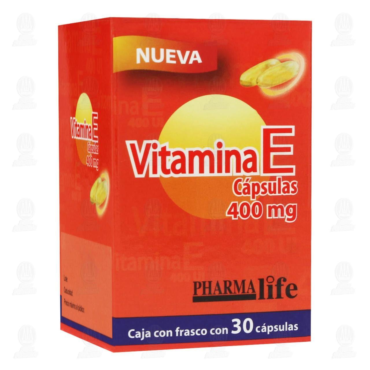 Comprar Vitamina E 400mg 30 Cápsulas Pharmalife en Farmacias Guadalajara