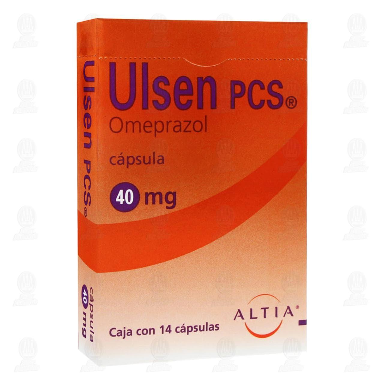 Comprar Ulsen PCS 40mg 14 Cápsulas en Farmacias Guadalajara