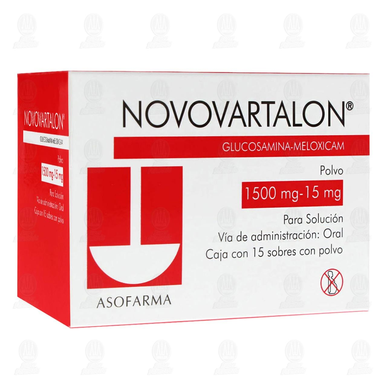 Comprar Novovartalon 1500mg/15mg 15 Sobres Polvo en Farmacias Guadalajara