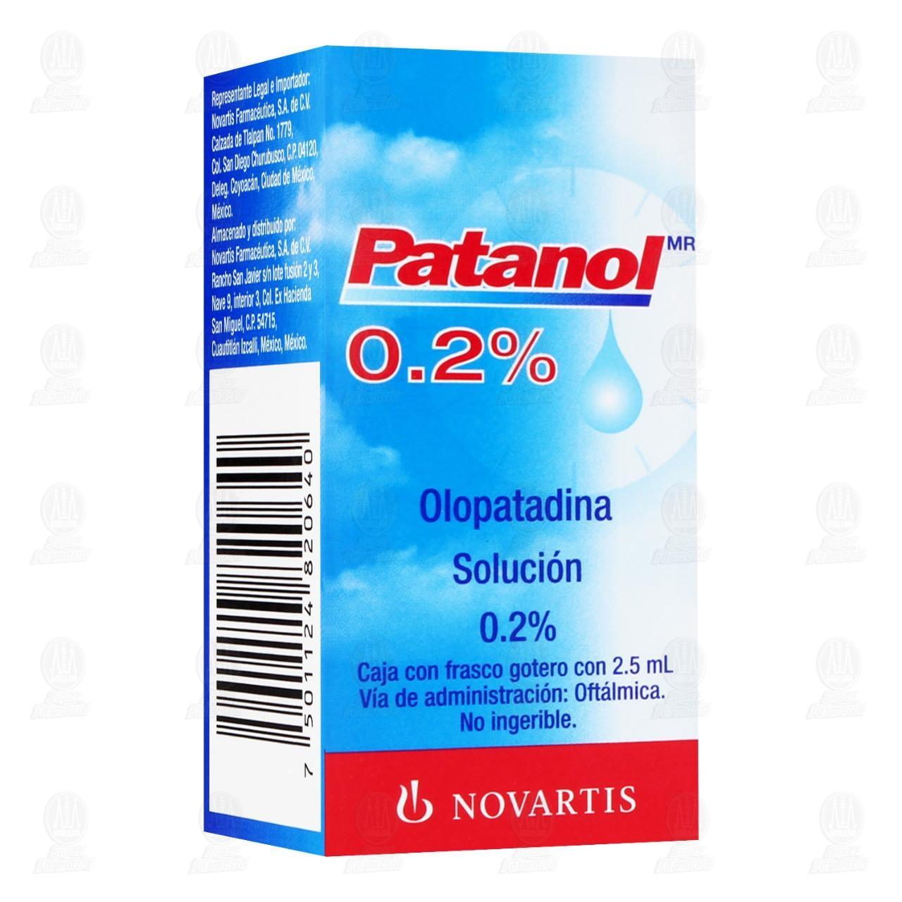 Comprar Patanol Solución 0.2% 2.5ml en Farmacias Guadalajara