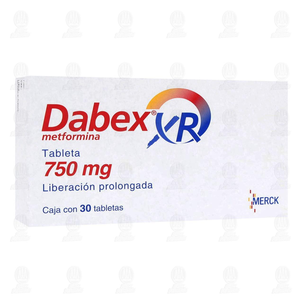 Comprar Dabex XR 750mg 30 Tabletas en Farmacias Guadalajara