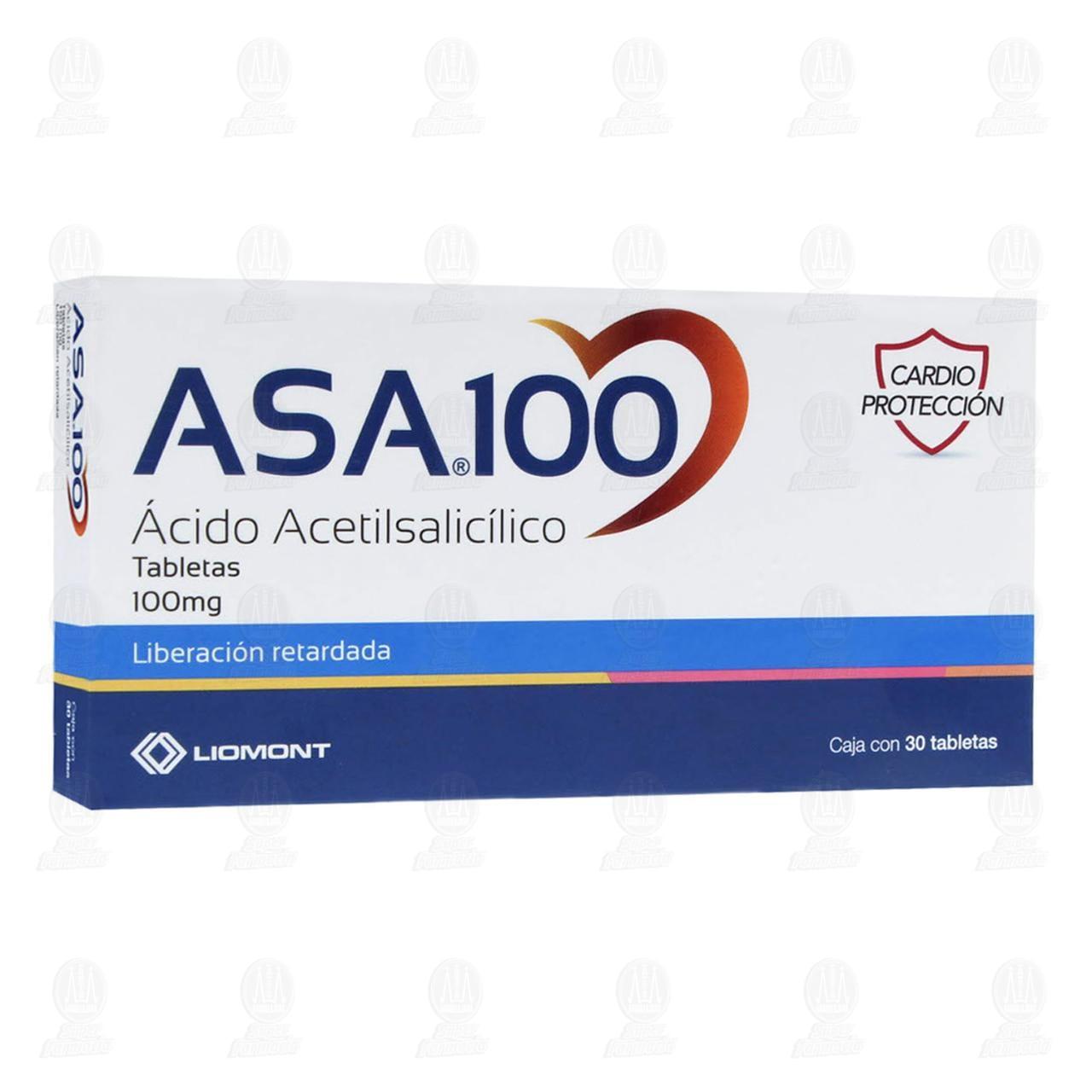 Comprar Asa 100mg 30 Tabletas en Farmacias Guadalajara