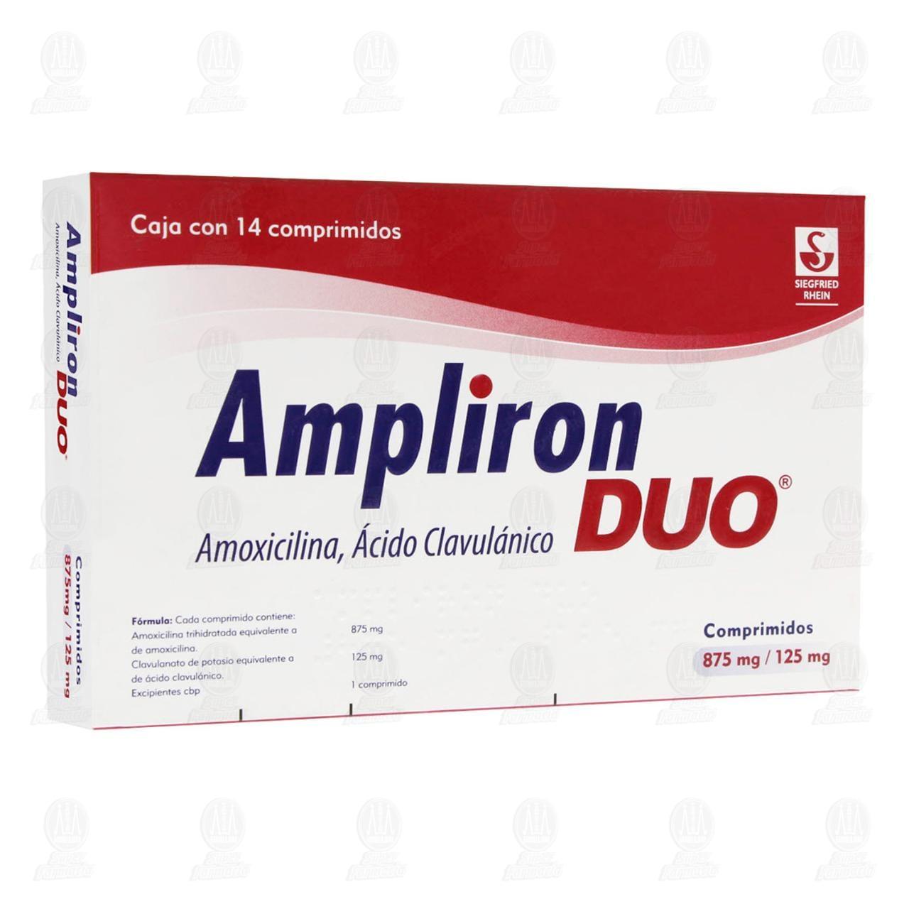 Ampliron Duo 875/125mg 14 Comprimidos