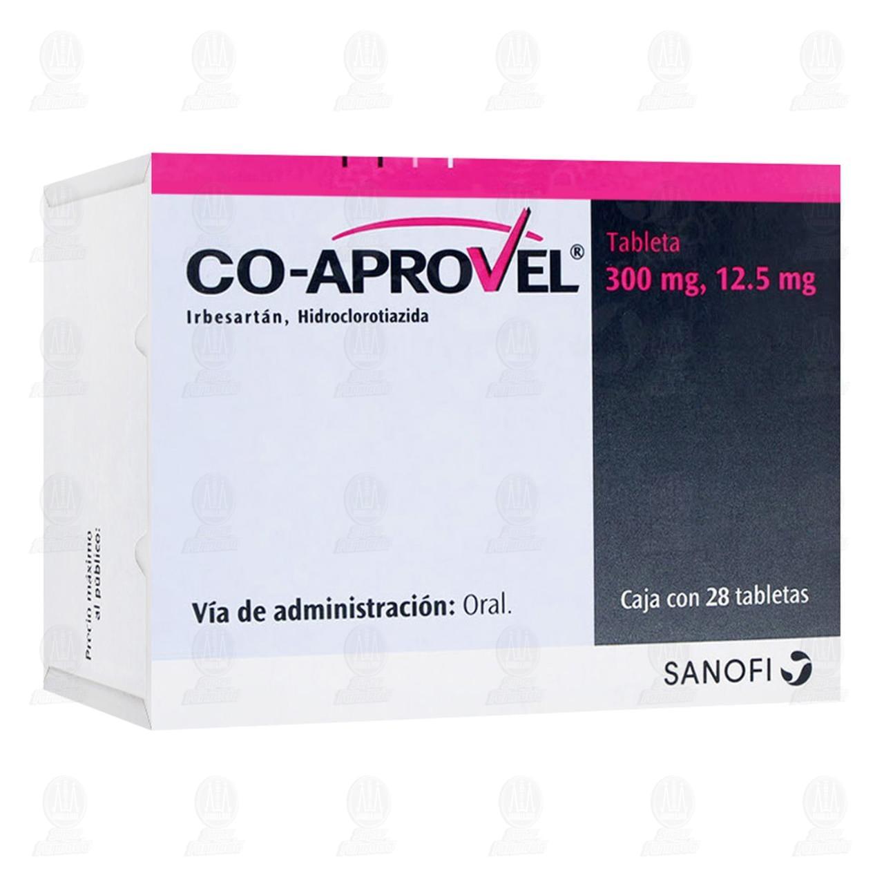 Comprar Coaprovel 300mg/12.5mg 28 Tabletas en Farmacias Guadalajara