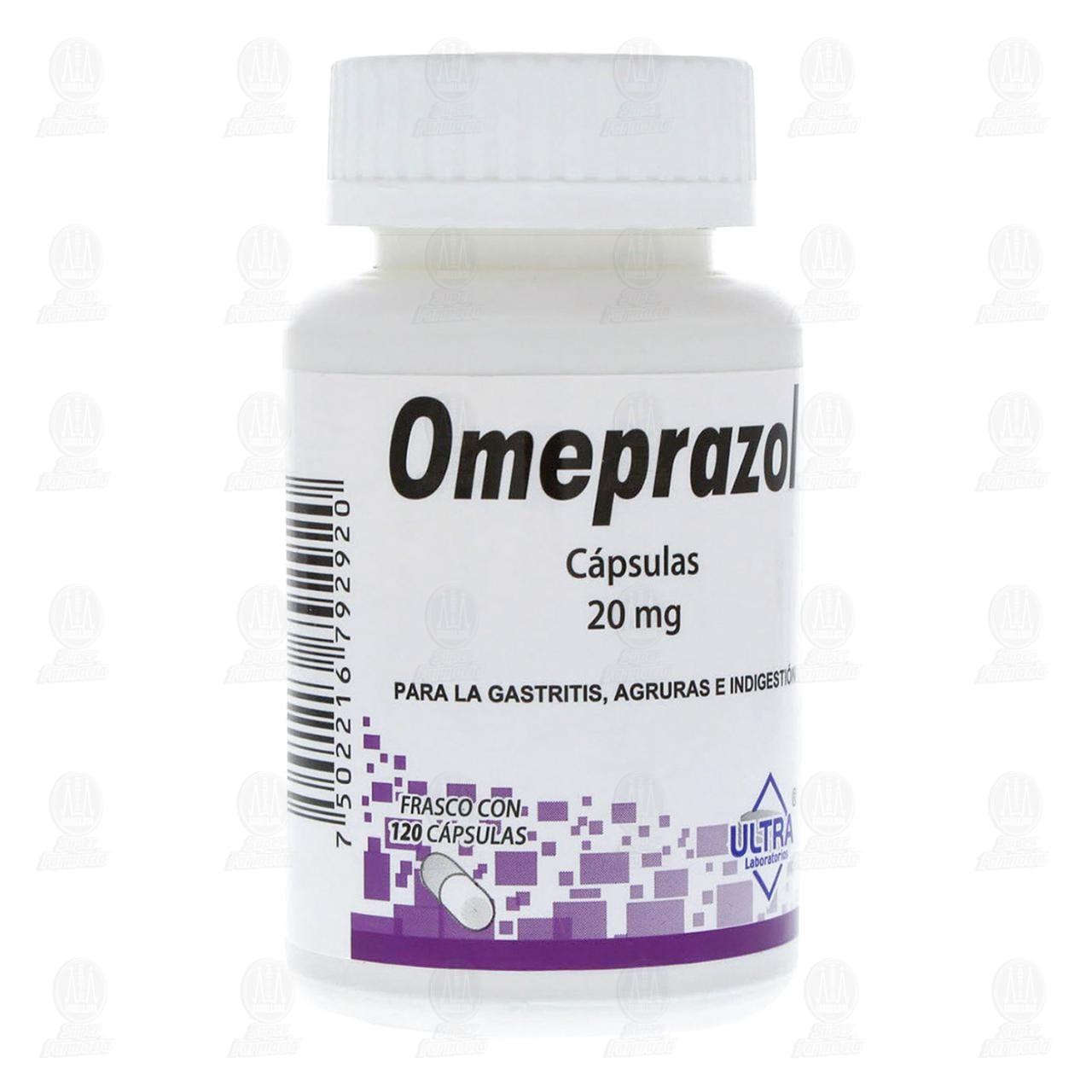 Comprar Omeprazol 20mg 120 Cápsulas en Farmacias Guadalajara