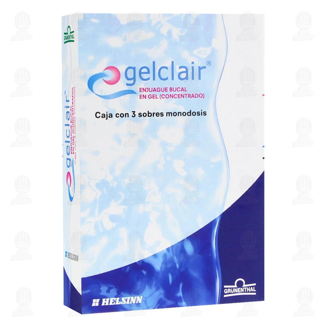 Comprar Gelclair 3 Sobres Gel Monodosis en Farmacias Guadalajara