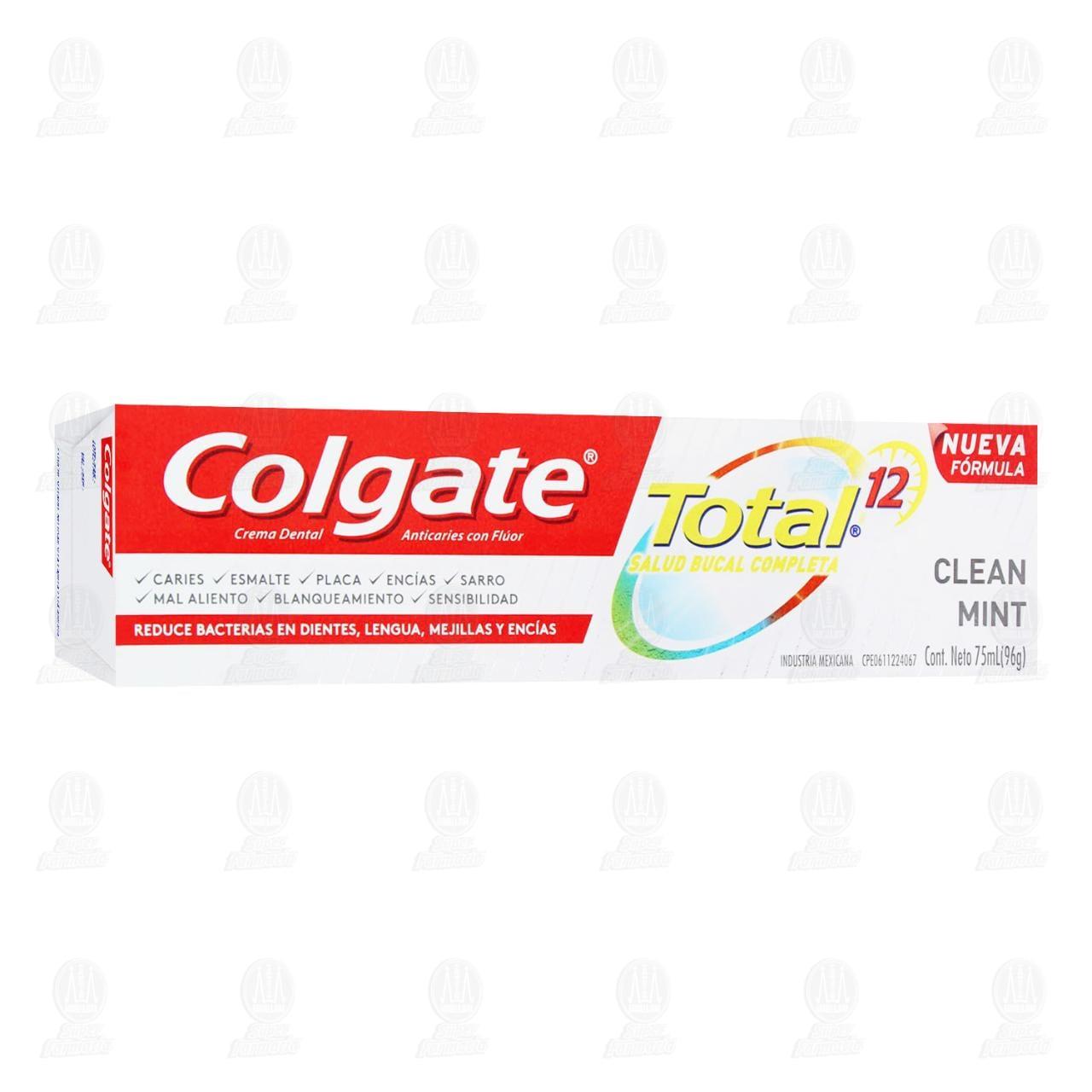 Comprar Pasta Dental Colgate Total 12 Clean Mint, 75 ml. en Farmacias Guadalajara
