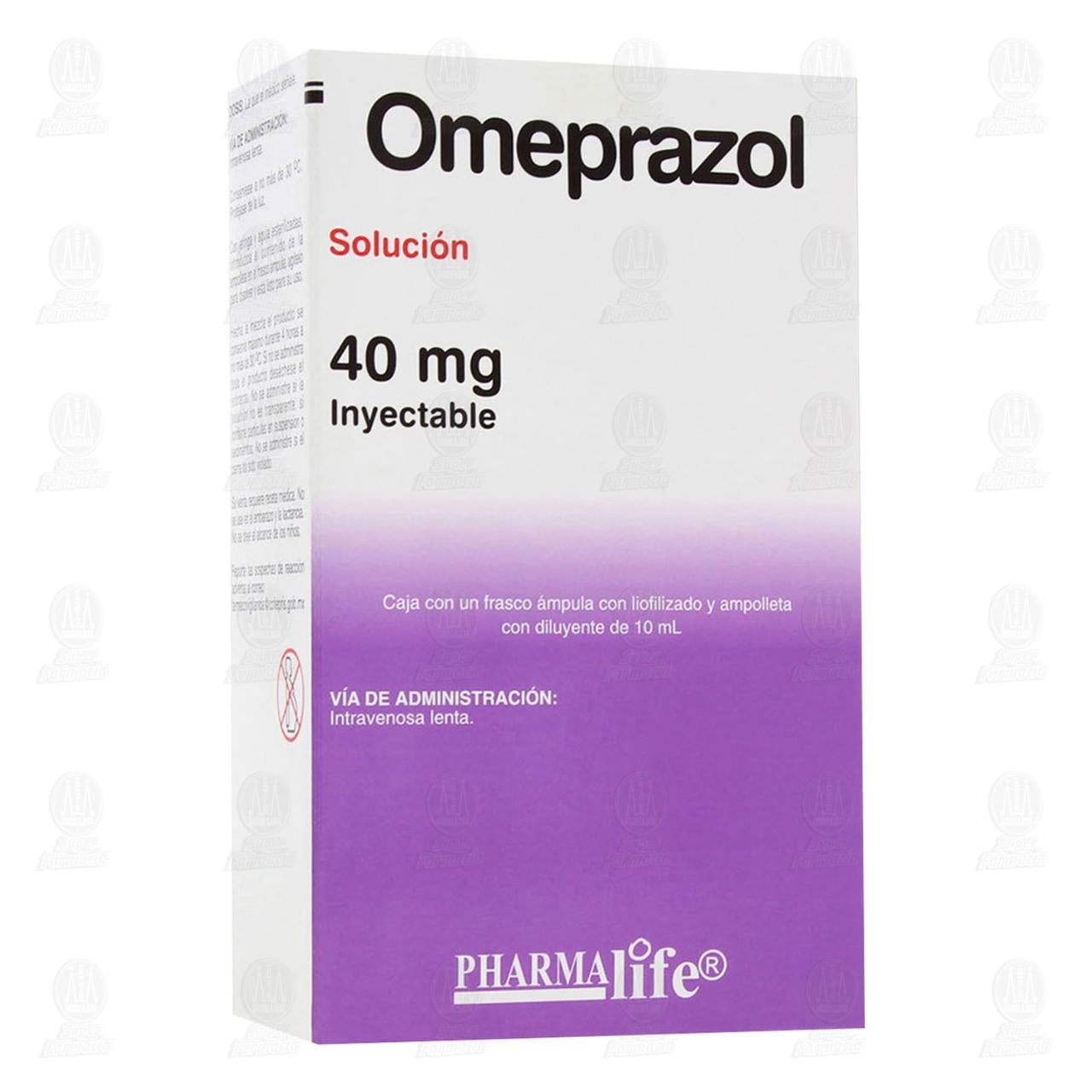 Comprar Omeprazol 40mg 10ml 1 Ampolleta Pharmalife en Farmacias Guadalajara