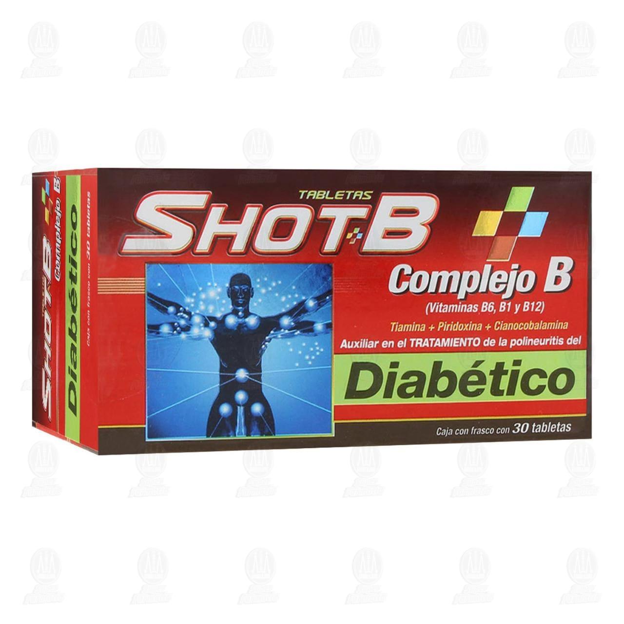 Comprar Shot-B Diabético 30 Tabletas en Farmacias Guadalajara