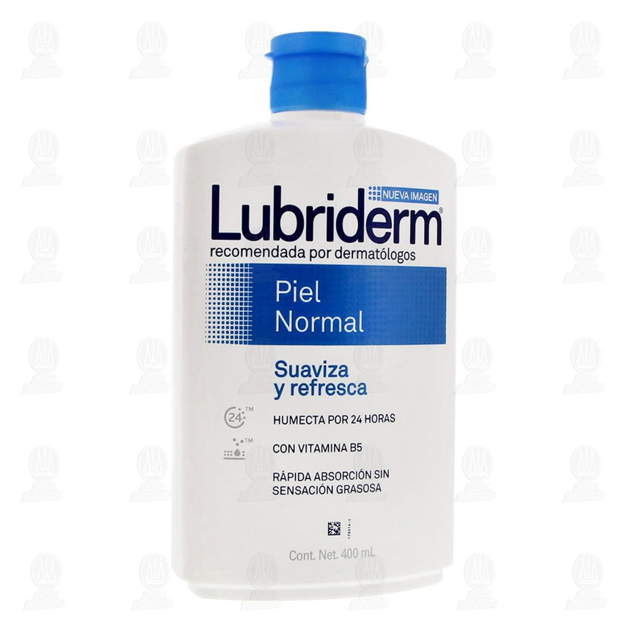 Comprar Crema Corporal Lubriderm Piel Normal, 400 ml. en Farmacias Guadalajara