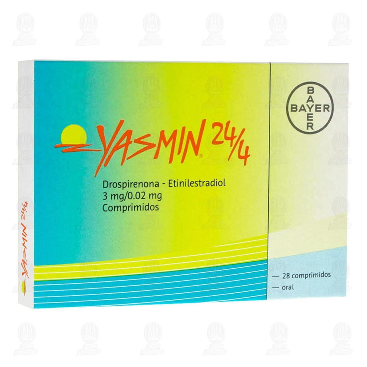 Comprar Yasmín 24/4 3mg/0.02mg 28 Comprimidos en Farmacias Guadalajara