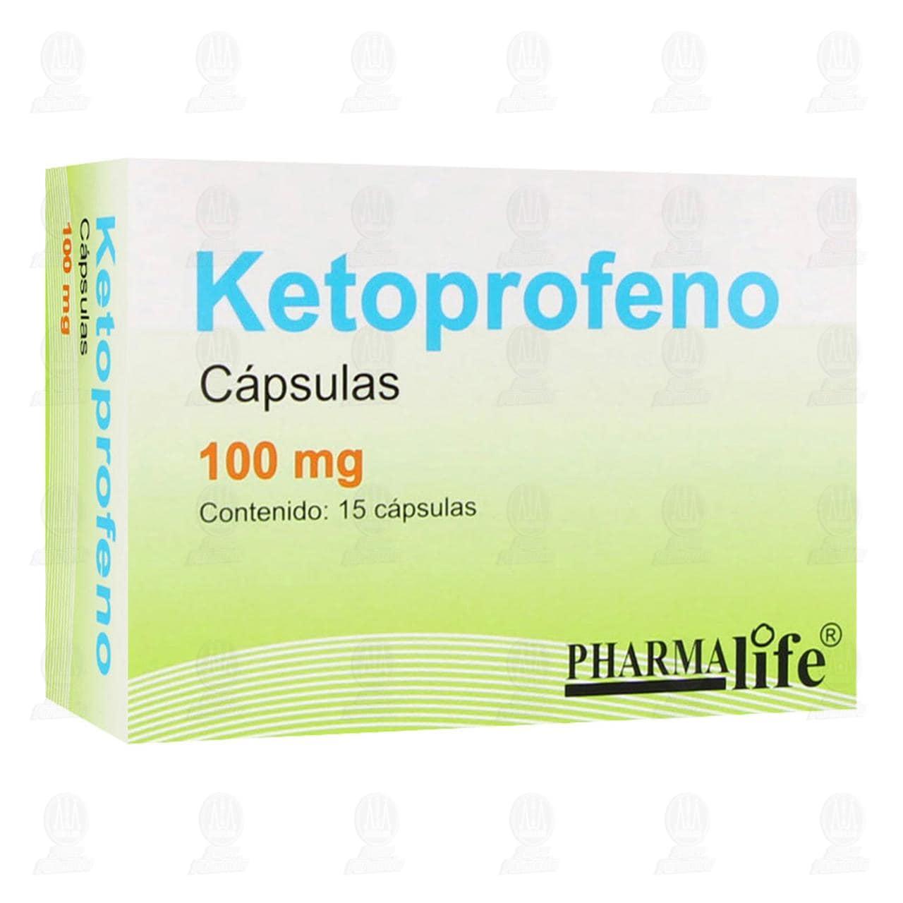 Comprar Ketoprofeno 100mg 15 Cápsulas Pharmalife en Farmacias Guadalajara