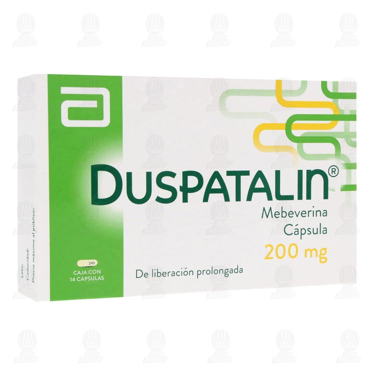 Comprar Duspatalin 200mg 14 Cápsulas en Farmacias Guadalajara