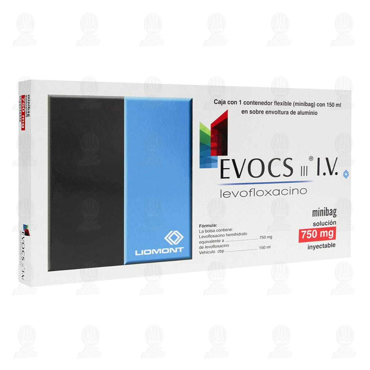 Comprar Evocs III 750mg Minibag Inyectable 150ml en Farmacias Guadalajara