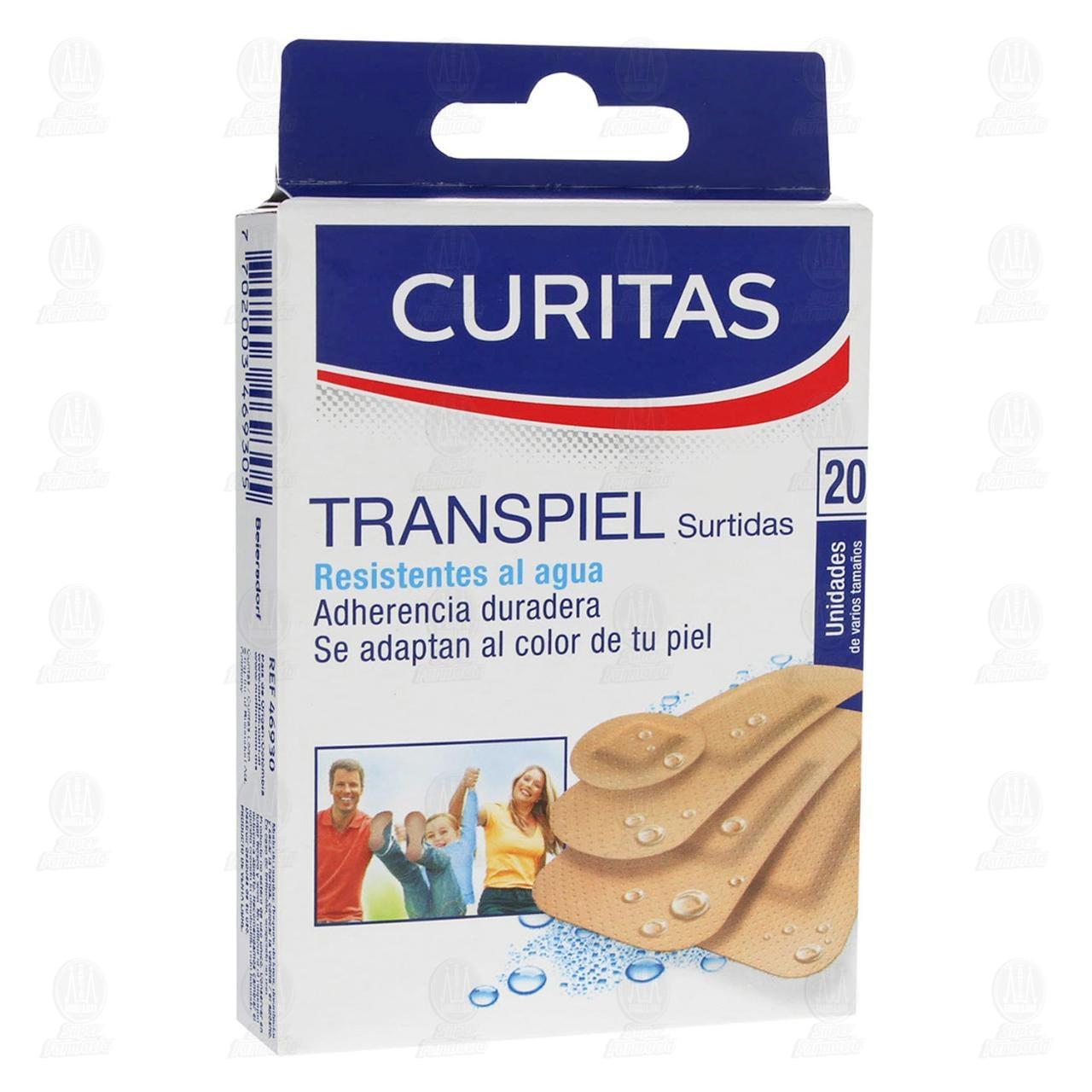 Comprar Curitas Venditas Transpiel Surtidas 20pzas en Farmacias Guadalajara
