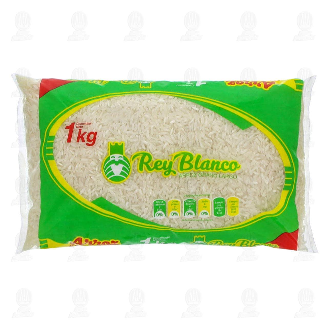 Arroz Grano Largo Rey Blanco, 1 kg.