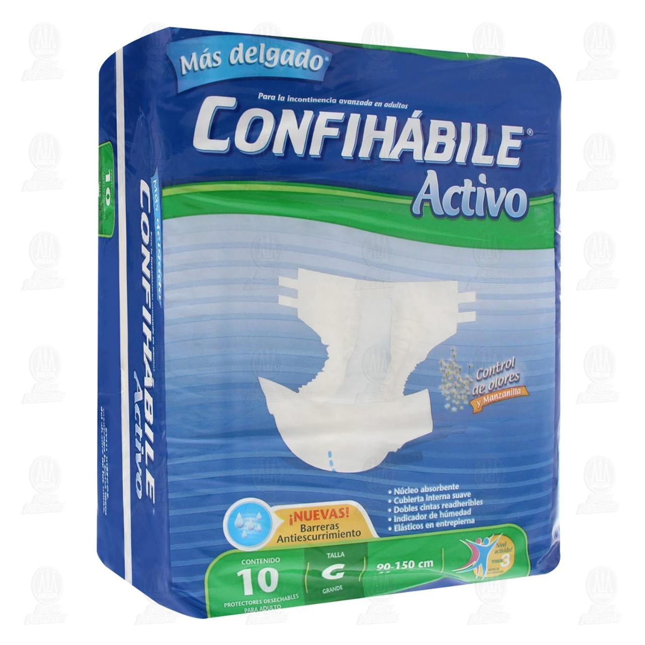 Pañal Confihábile Activo, Talla Grande, 10 pzas.