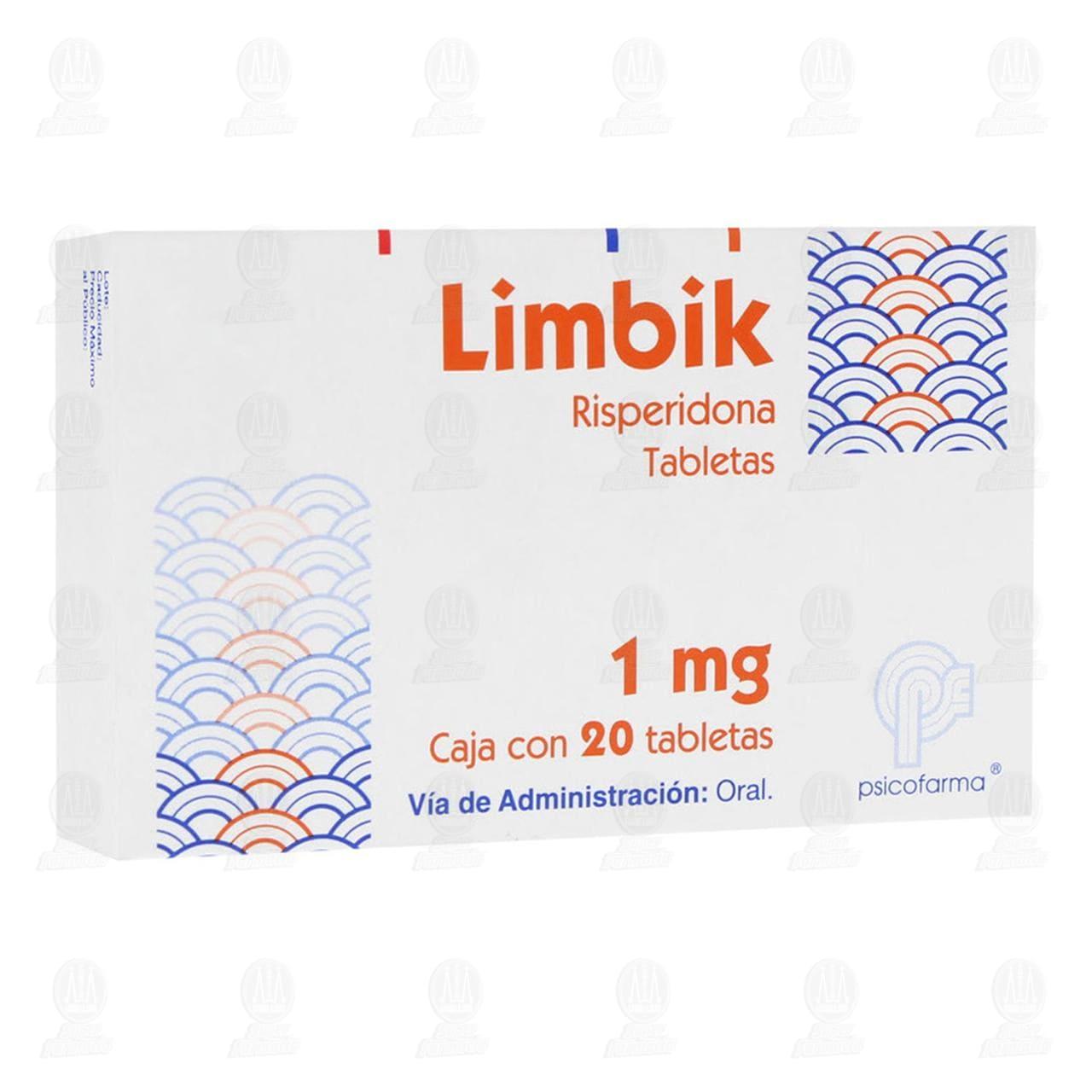 Comprar Limbik 1mg 20 Tabletas en Farmacias Guadalajara