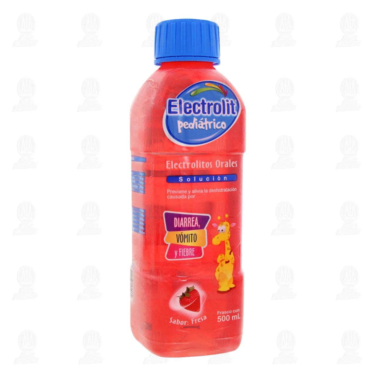 Comprar Electrolit Pediátrico Fresa Oral 500ml en Farmacias Guadalajara