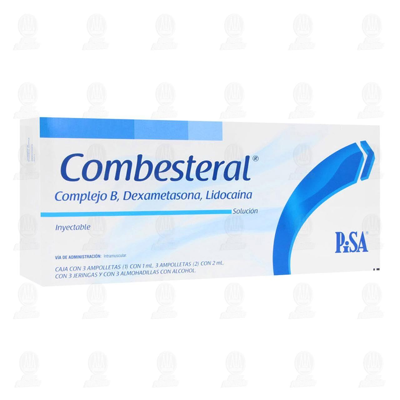 Comprar Combesteral Complejo B,Dexametasona Lidocaína 3 Ampolletas/1ml 3 Ampolletas/2ml 3 Jeringas en Farmacias Guadalajara