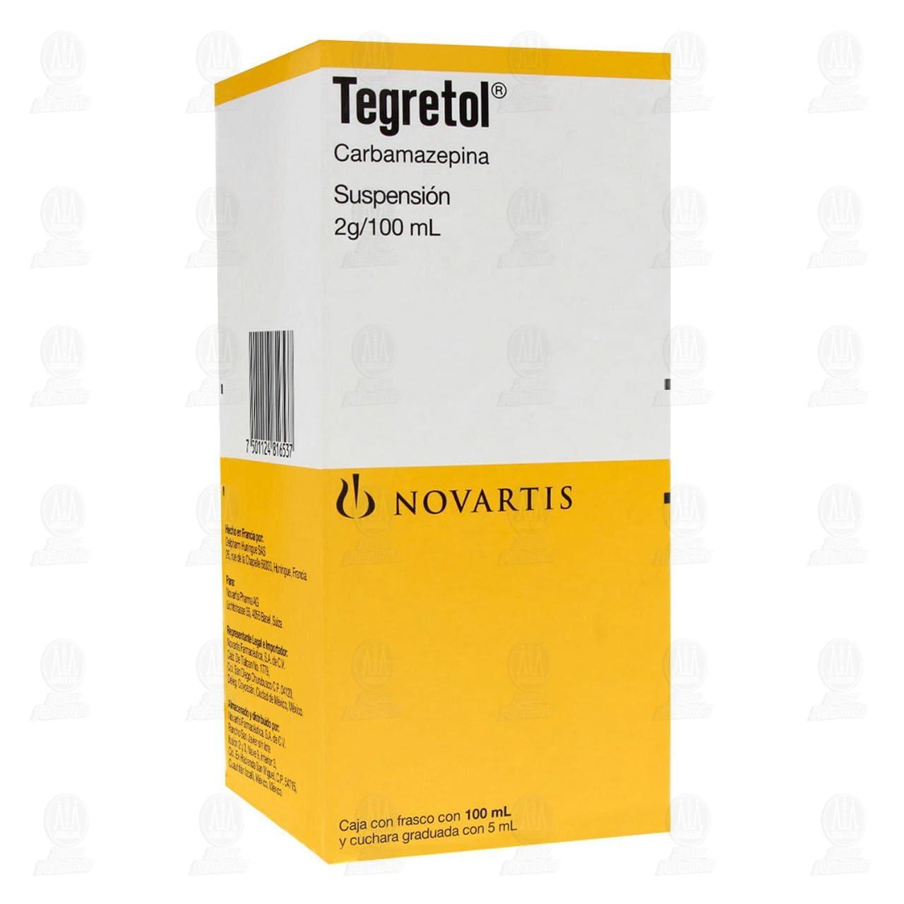 Comprar Tegretol Suspensión 2gr/100ml en Farmacias Guadalajara