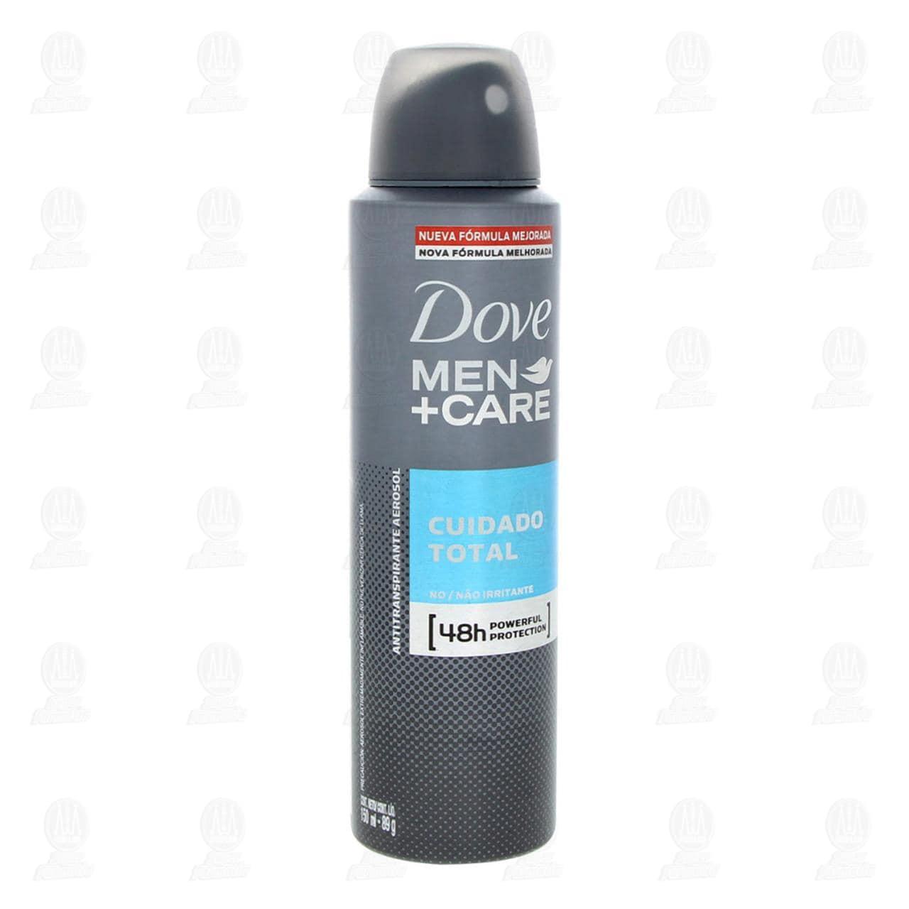 Comprar Antitranspirante Dove Men+Care Cuidado Total en Aerosol, 150 ml. en Farmacias Guadalajara