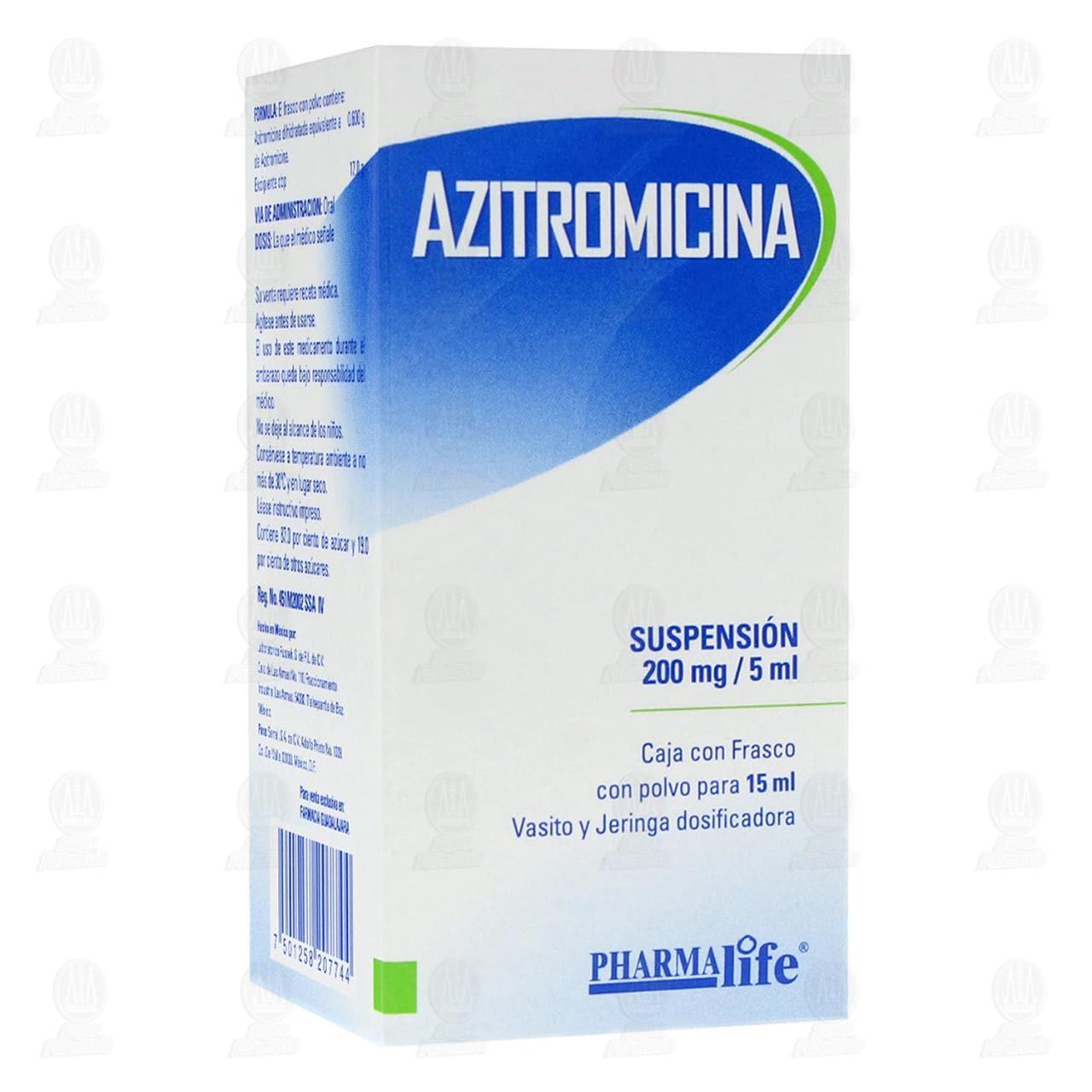 Comprar Azitromicina 200mg/5ml 15ml Suspensión Pharmalife en Farmacias Guadalajara