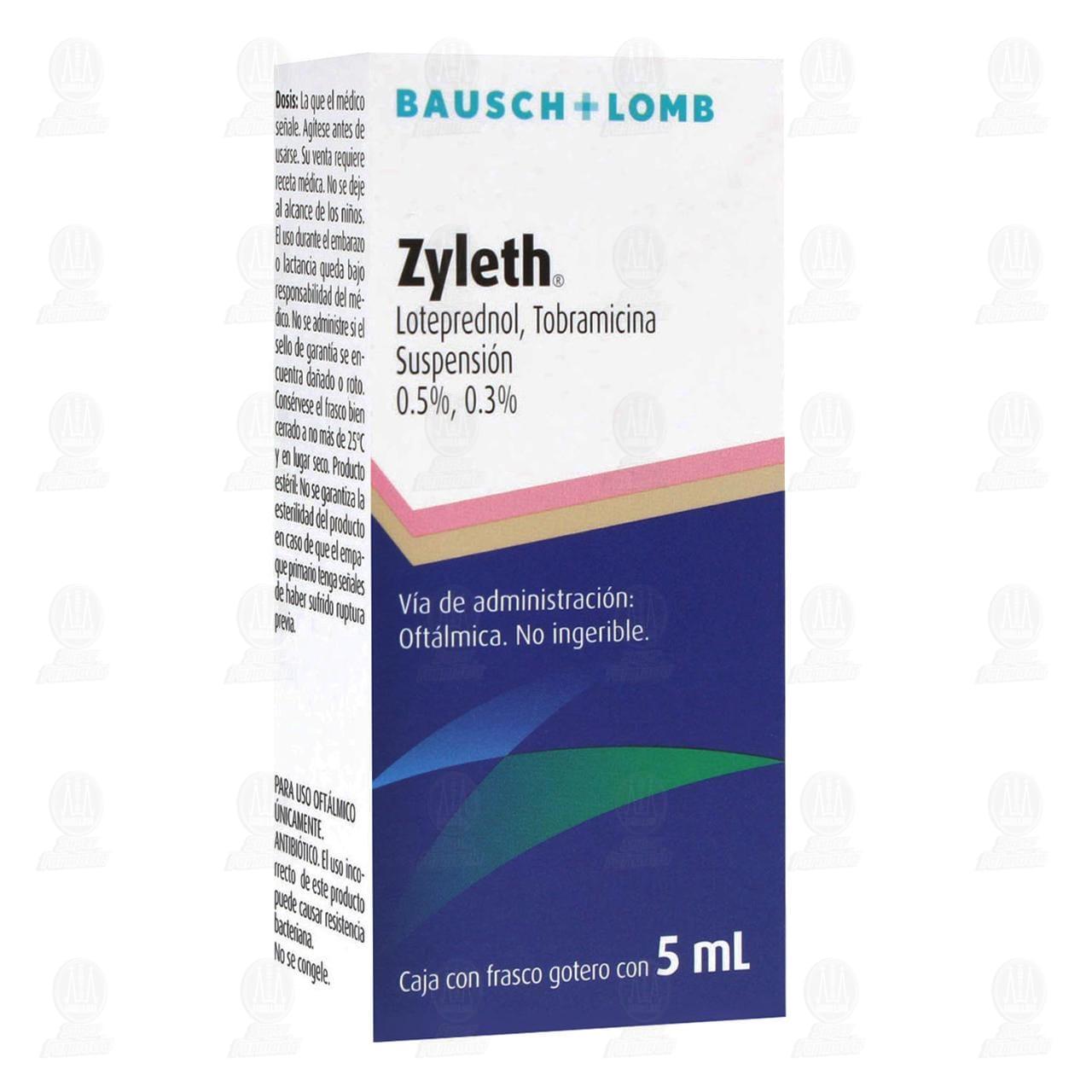 Comprar Zyleth 0.5% 0.3% 5ml Suspensión Oftálmica en Farmacias Guadalajara