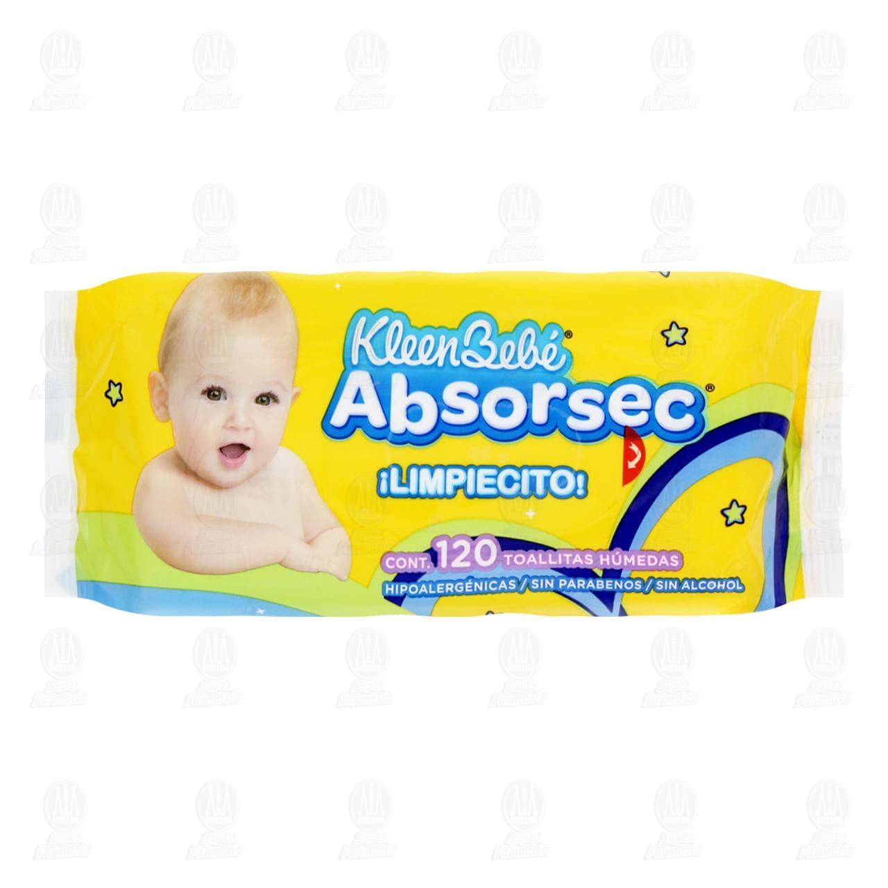 Comprar Toallitas para Bebé KleenBebé Absorsec, 120 pzas. en Farmacias Guadalajara