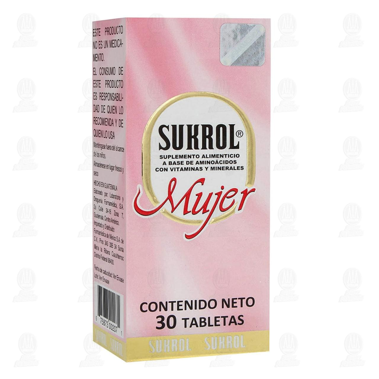 Comprar Sukrol Mujer 30 Tabletas en Farmacias Guadalajara