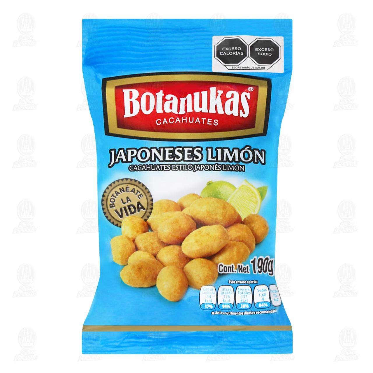 Cacahuates Botanukas Japoneses Limón, 190 gr.