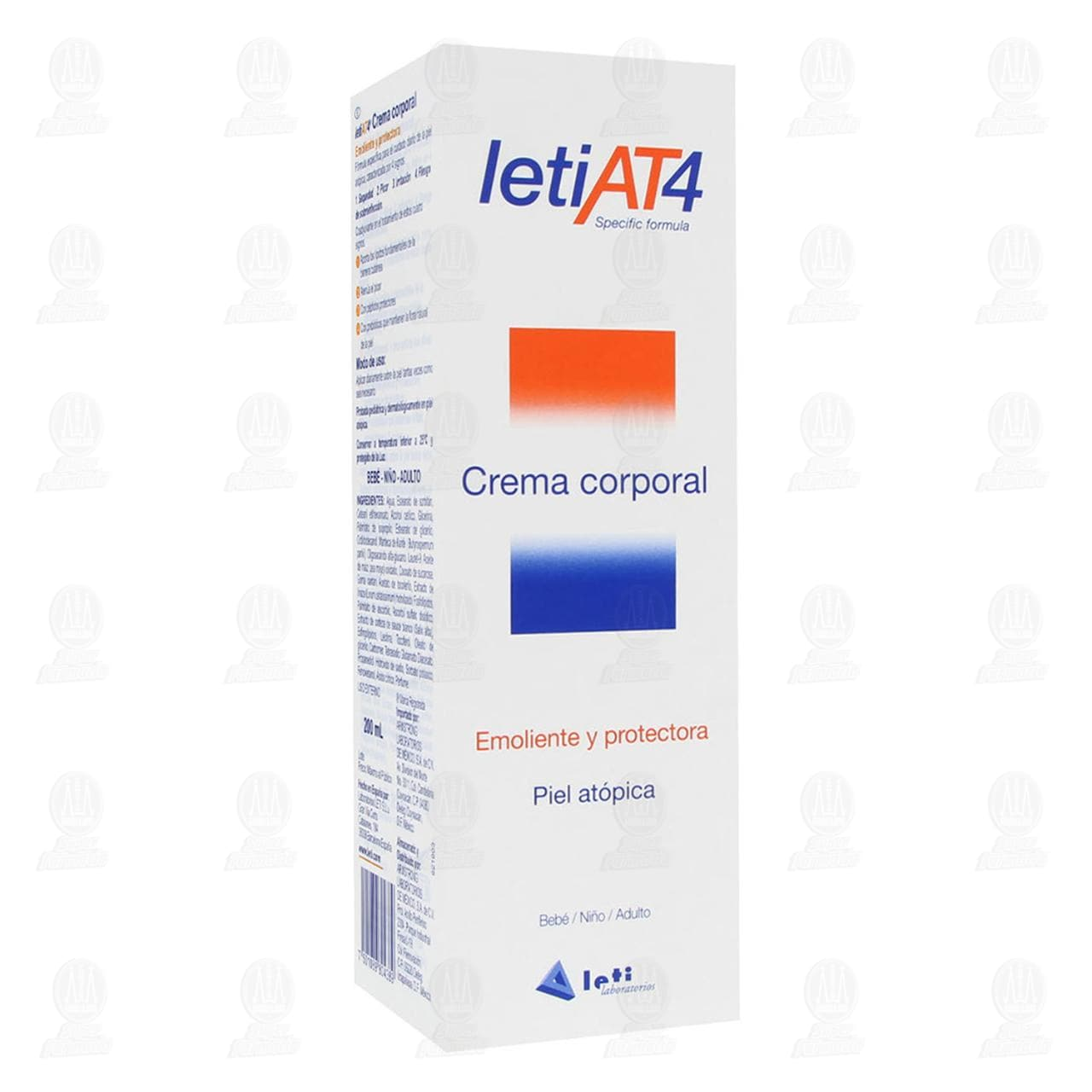 Comprar Leti AT4 Crema Corporal, 200 ml. en Farmacias Guadalajara