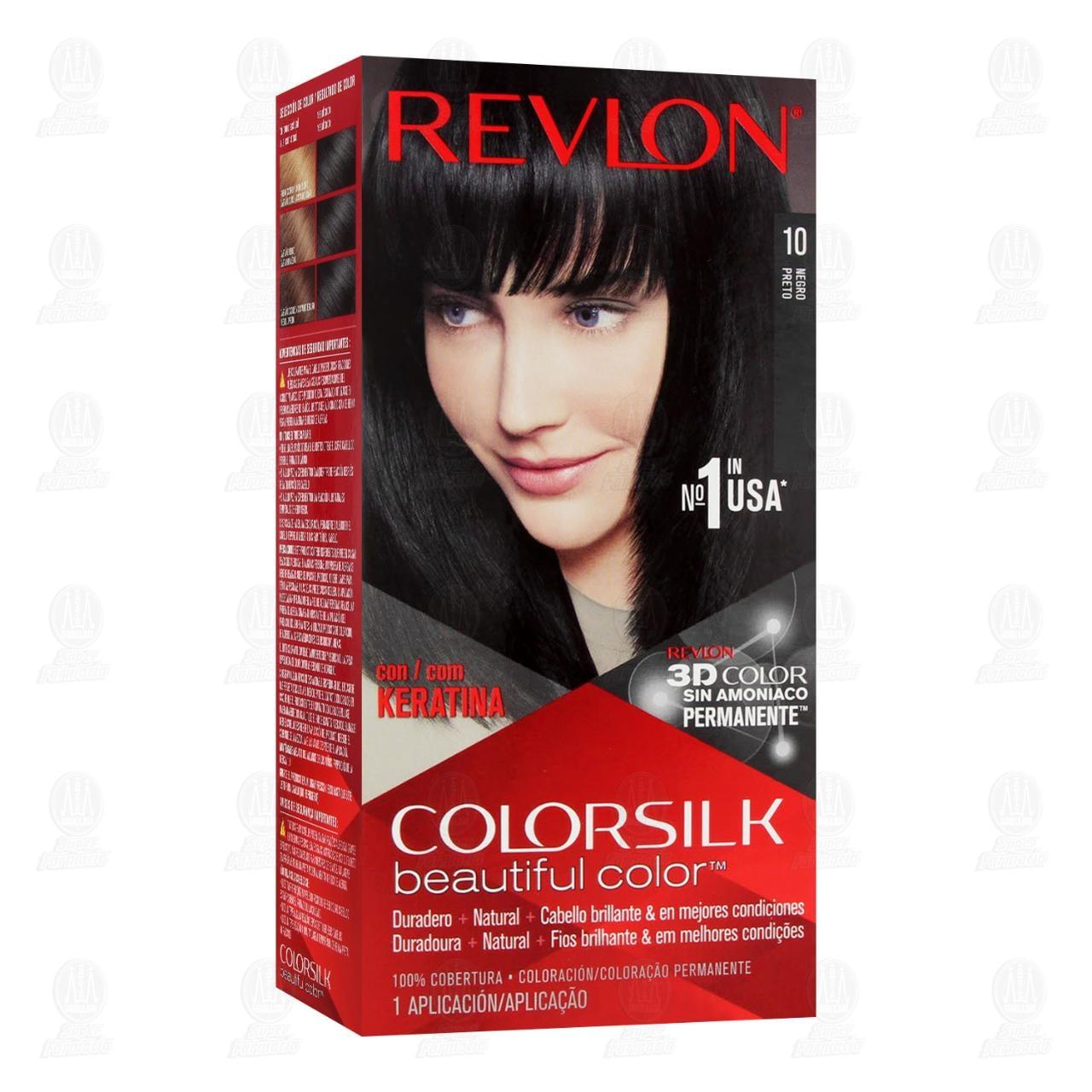 Tinte ColorSilk Beautiful Color Negro Sin Amoníaco, 5 pzas.