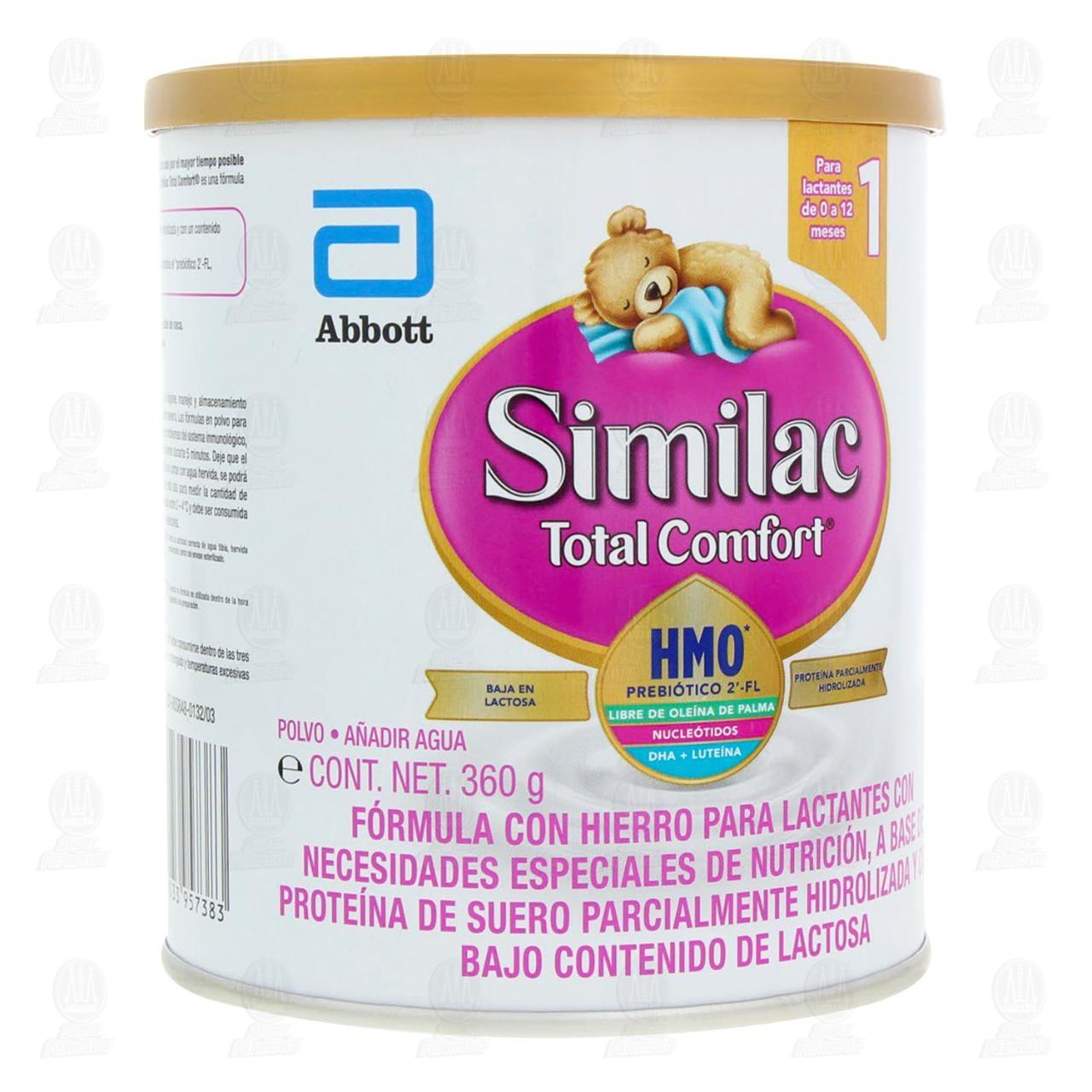Comprar Fórmula Infantil Similac Total Comfort 1 en Polvo (Edad 0-12 Meses), 360 gr. en Farmacias Guadalajara