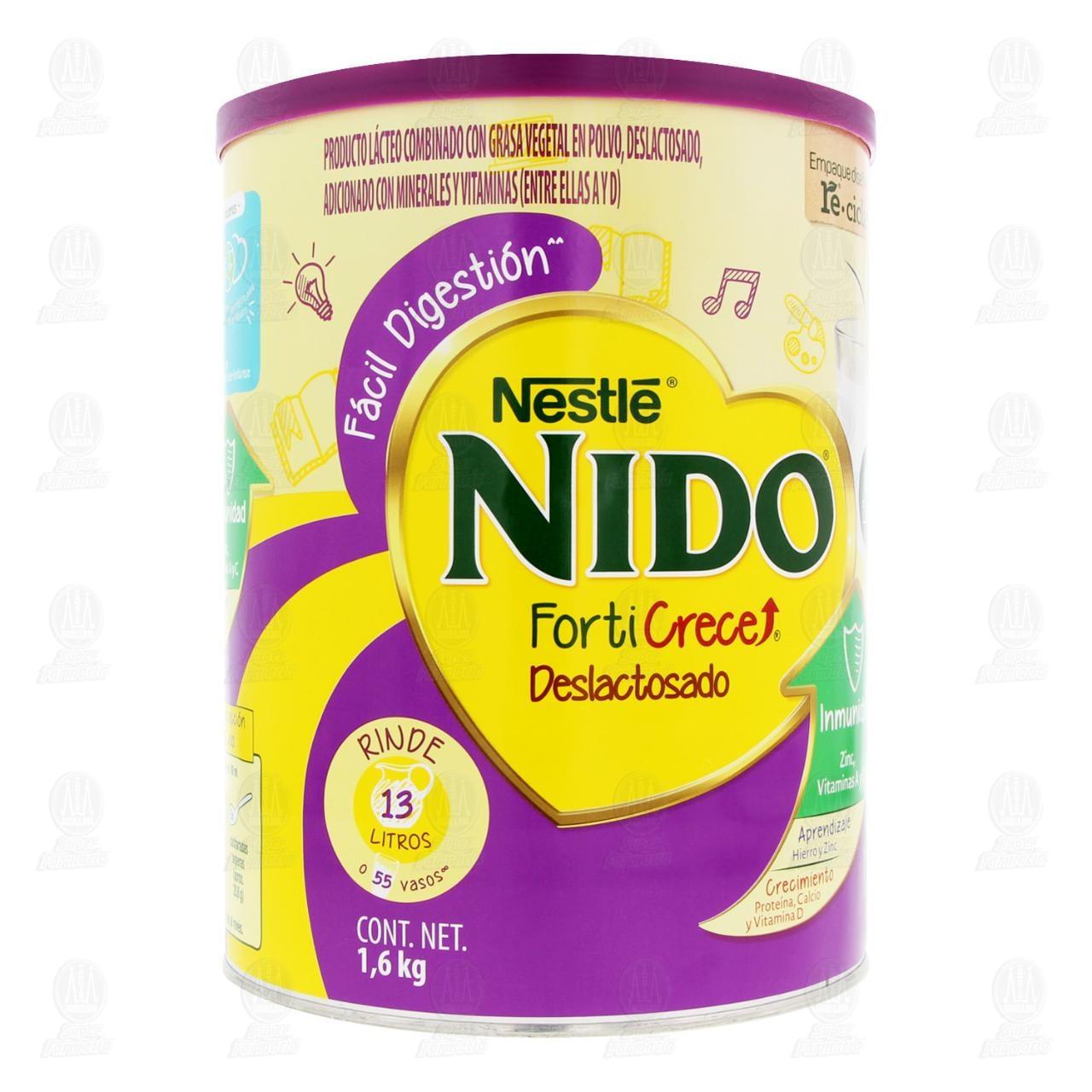 Comprar Producto Lácteo Nido FortiCrece Deslactosado, 1.6 kg. en Farmacias Guadalajara
