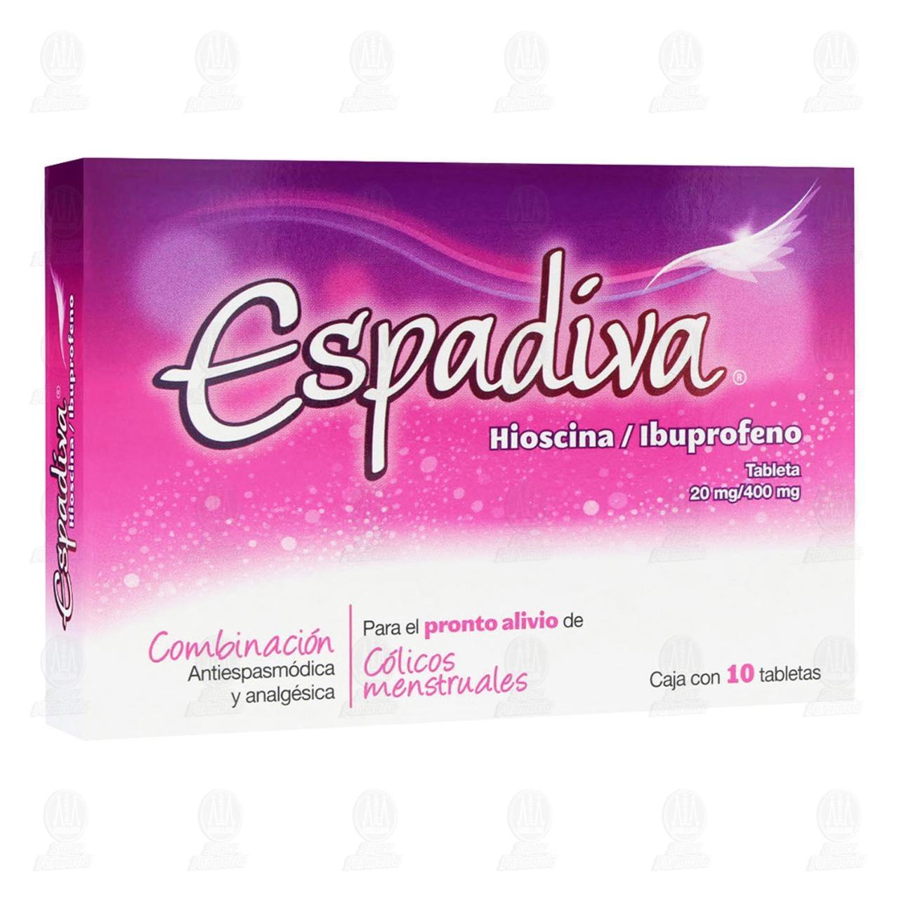 Comprar Espadiva 20mg/400mg 10 Tabletas en Farmacias Guadalajara