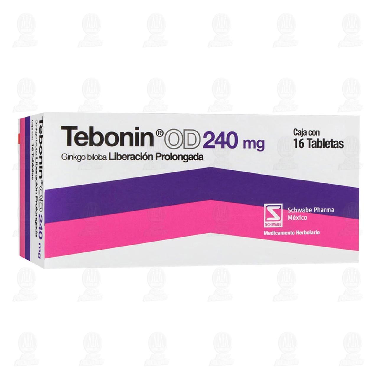 Comprar Tebonin OD 240mg 16 Tabletas en Farmacias Guadalajara