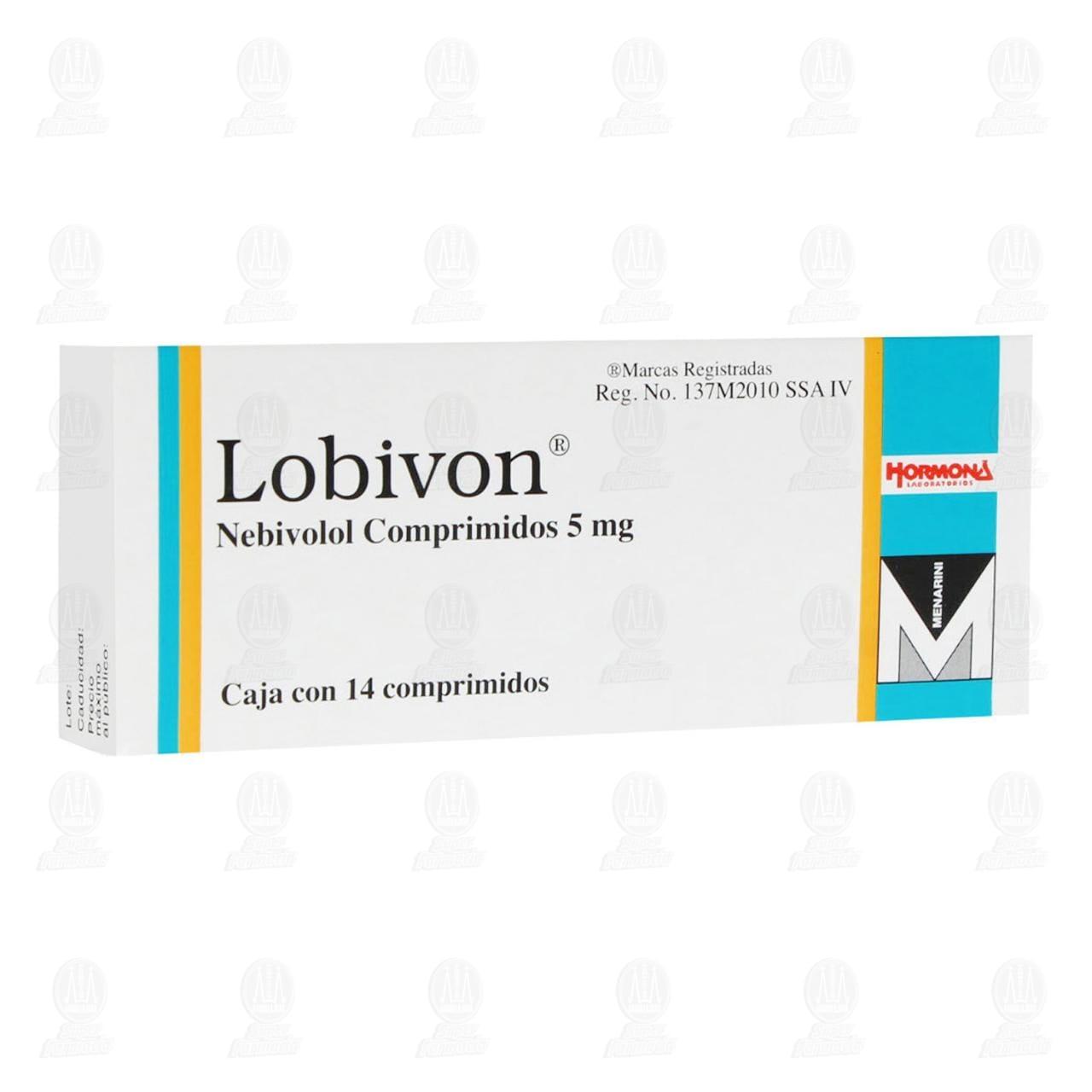 Comprar Lobivon 5mg 14 Comprimidos en Farmacias Guadalajara