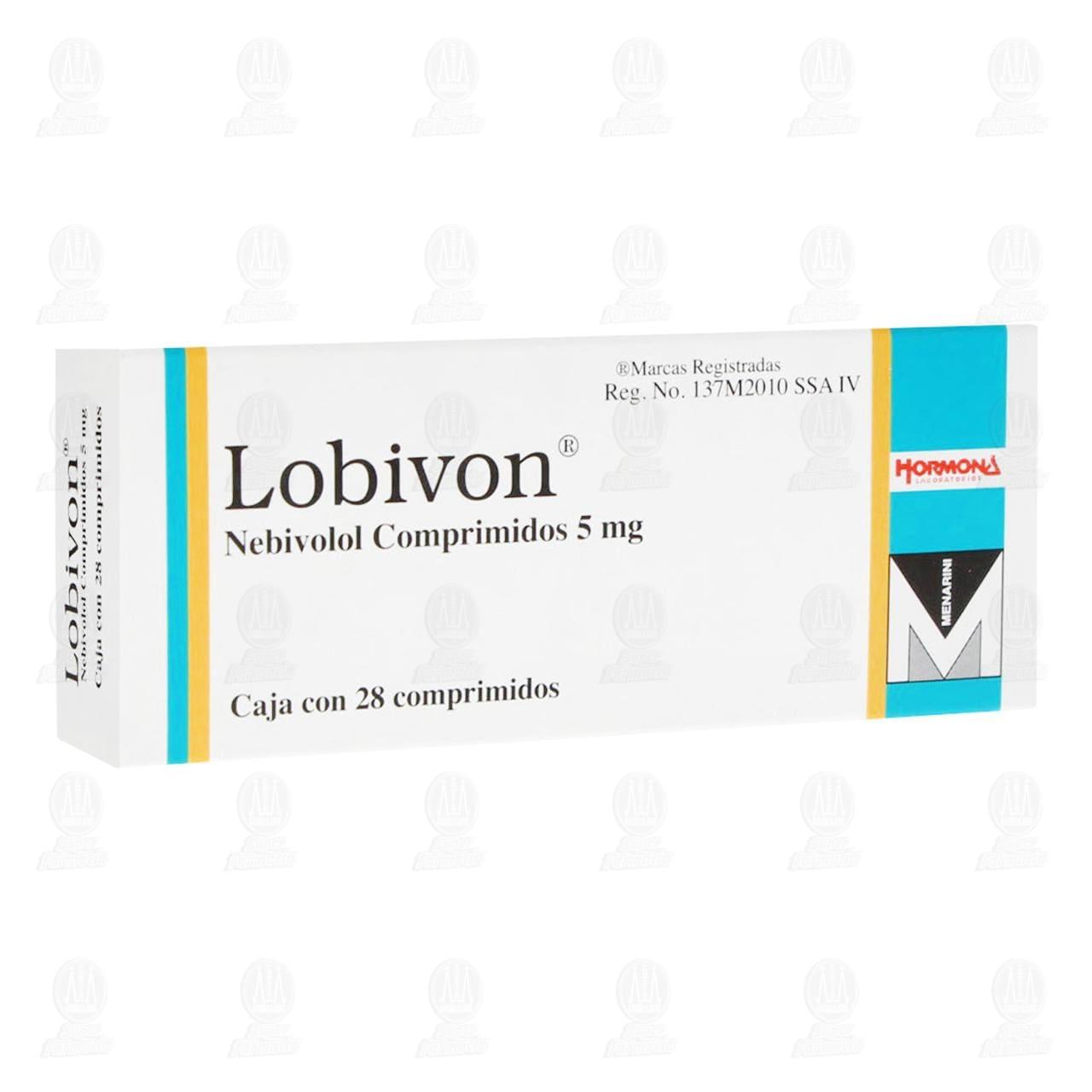 Comprar Lobivon 5mg 28 Comprimidos en Farmacias Guadalajara