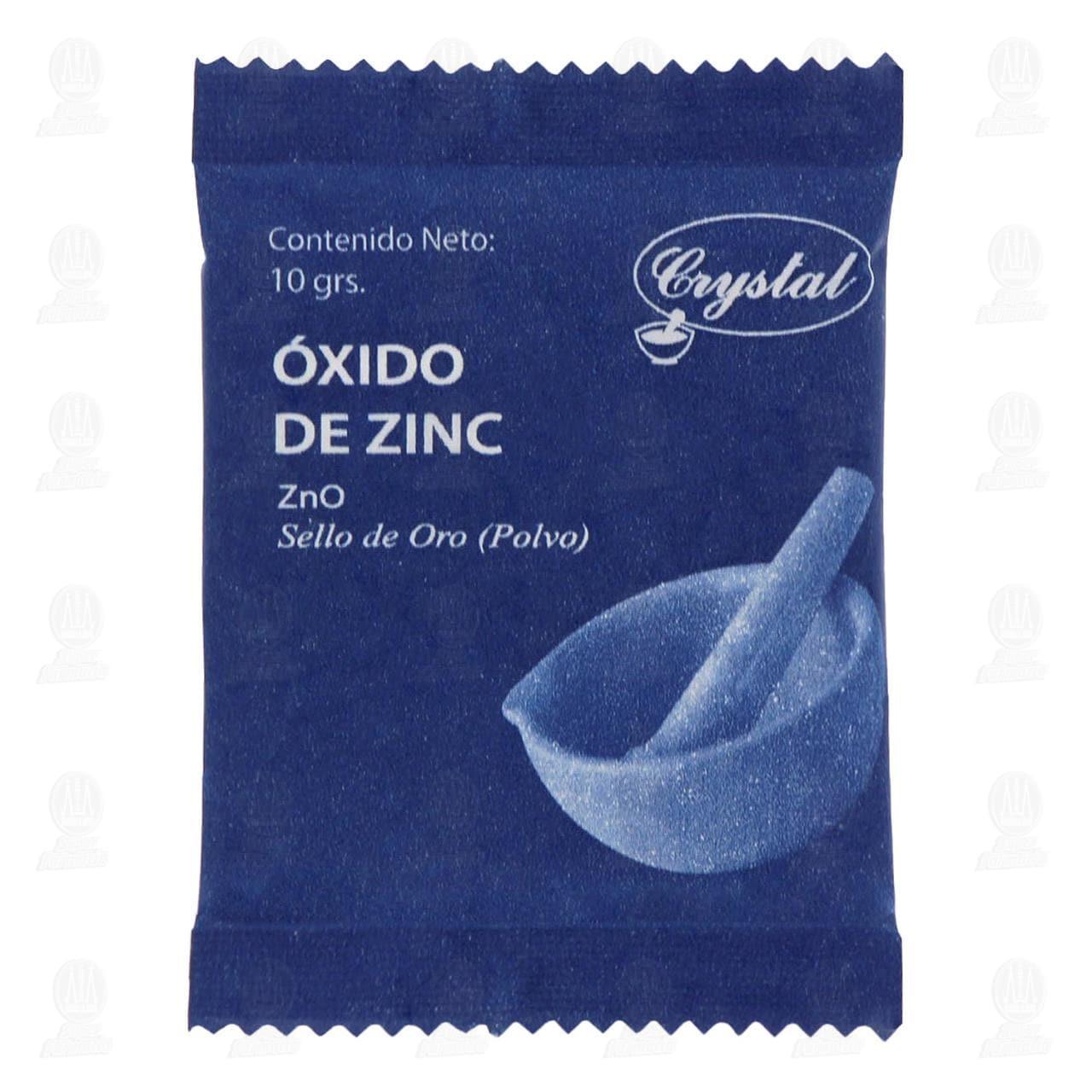 Comprar Óxido de Zinc Crystal 10gr Polvo en Farmacias Guadalajara