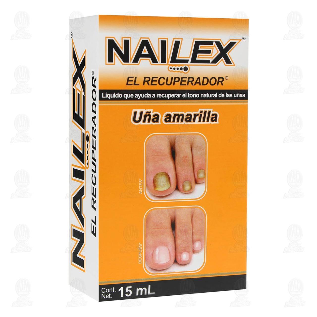 Comprar Nailex Líquido Uñas Amarillas 15ml en Farmacias Guadalajara