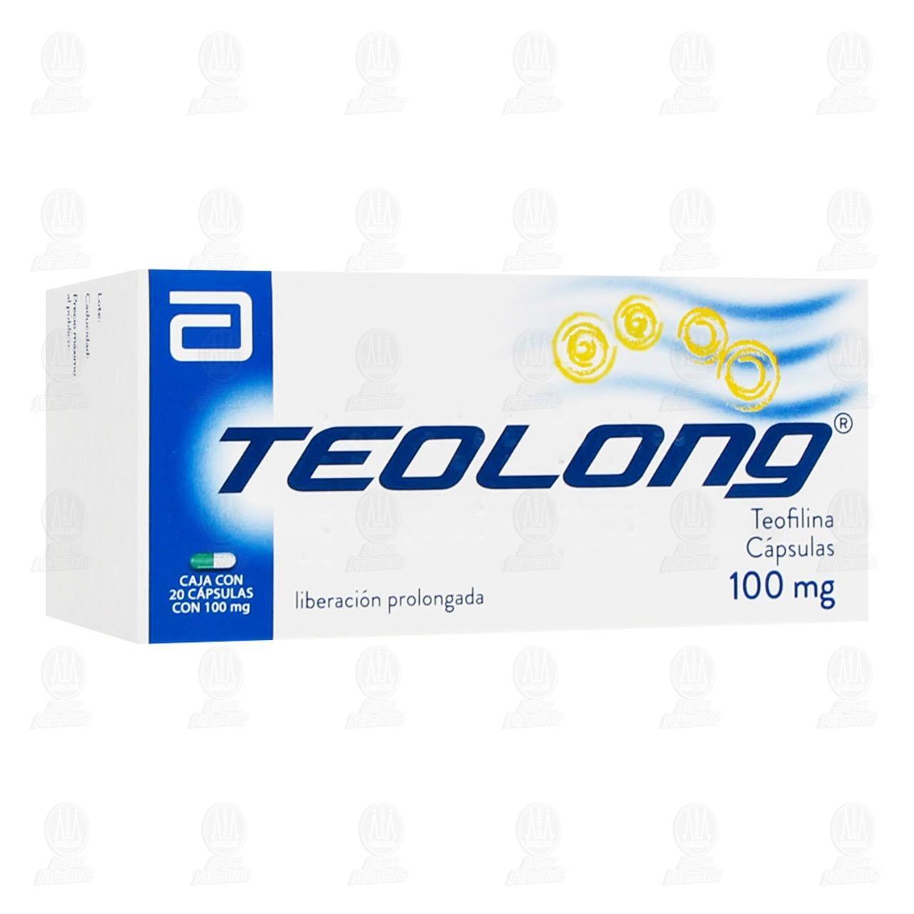 Comprar Teolong 100mg 20 Cápsulas en Farmacias Guadalajara