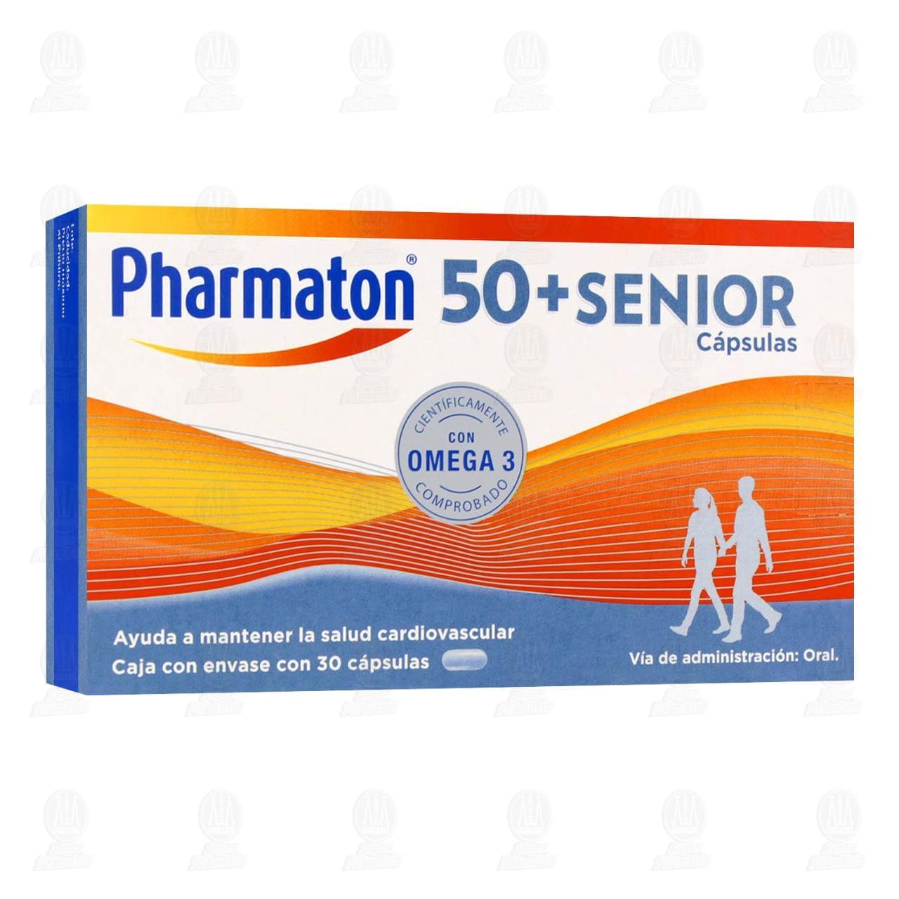 Comprar Pharmaton 50+Senior Vitaminas 250mg 30 Cápsulas en Farmacias Guadalajara