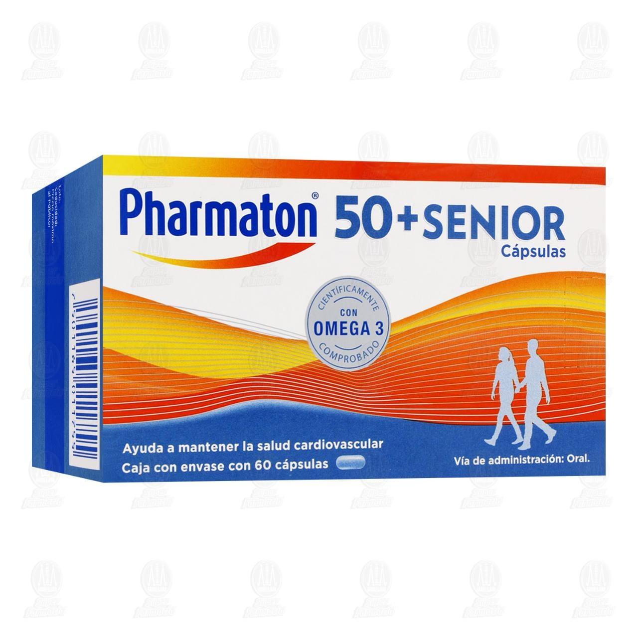 Comprar Pharmaton 50+Senior Vitaminas 60 Cápsulas en Farmacias Guadalajara