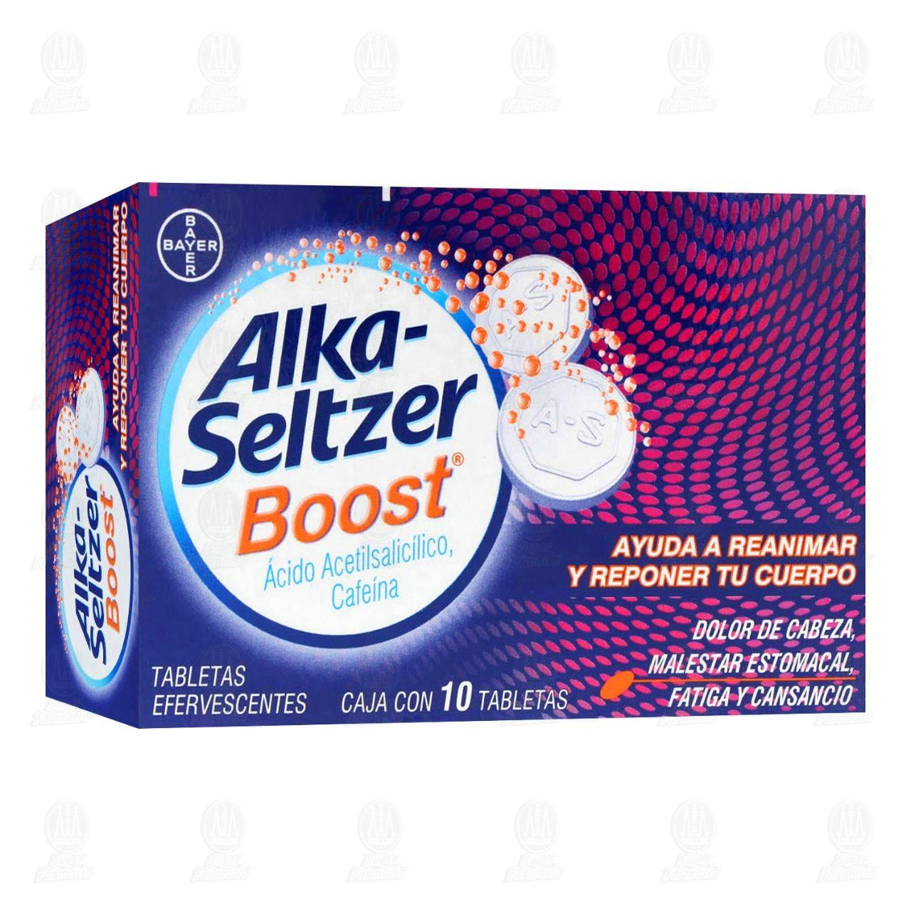 Comprar Alka-Seltzer Boost Rápido Alivio del Dolor, Ayuda a Reanimar y Reponer tu Cuerpo 10 Tabletas Efervescentes en Farmacias Guadalajara