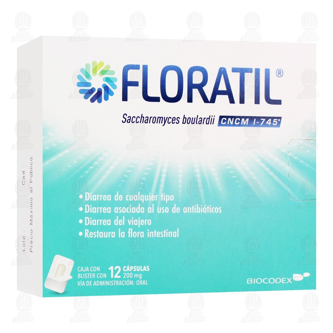 Comprar Floratil 200mg 12 Cápsulas en Farmacias Guadalajara