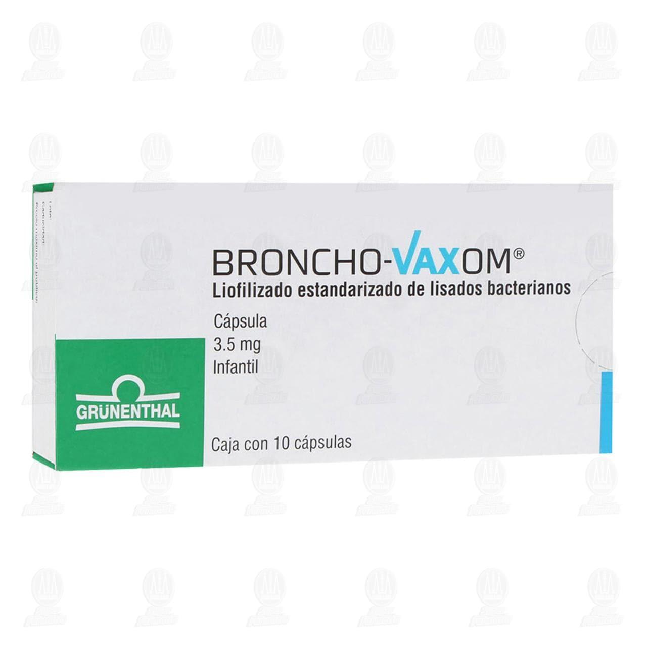 Comprar Broncho Vaxom Infantil 3.5mg 10 Cápsulas en Farmacias Guadalajara