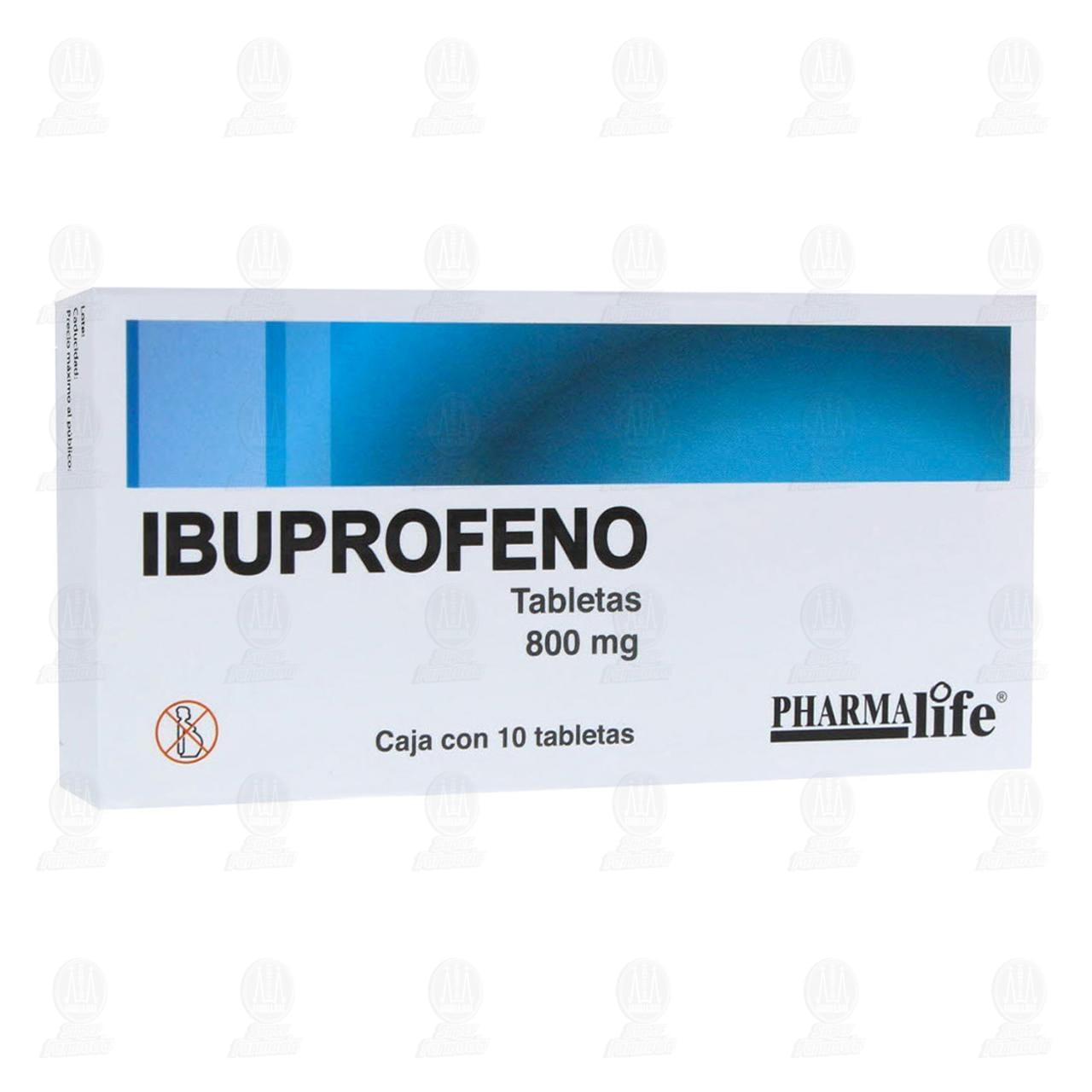 Comprar Ibuprofeno 800mg 10 Tabletas Pharmalife en Farmacias Guadalajara