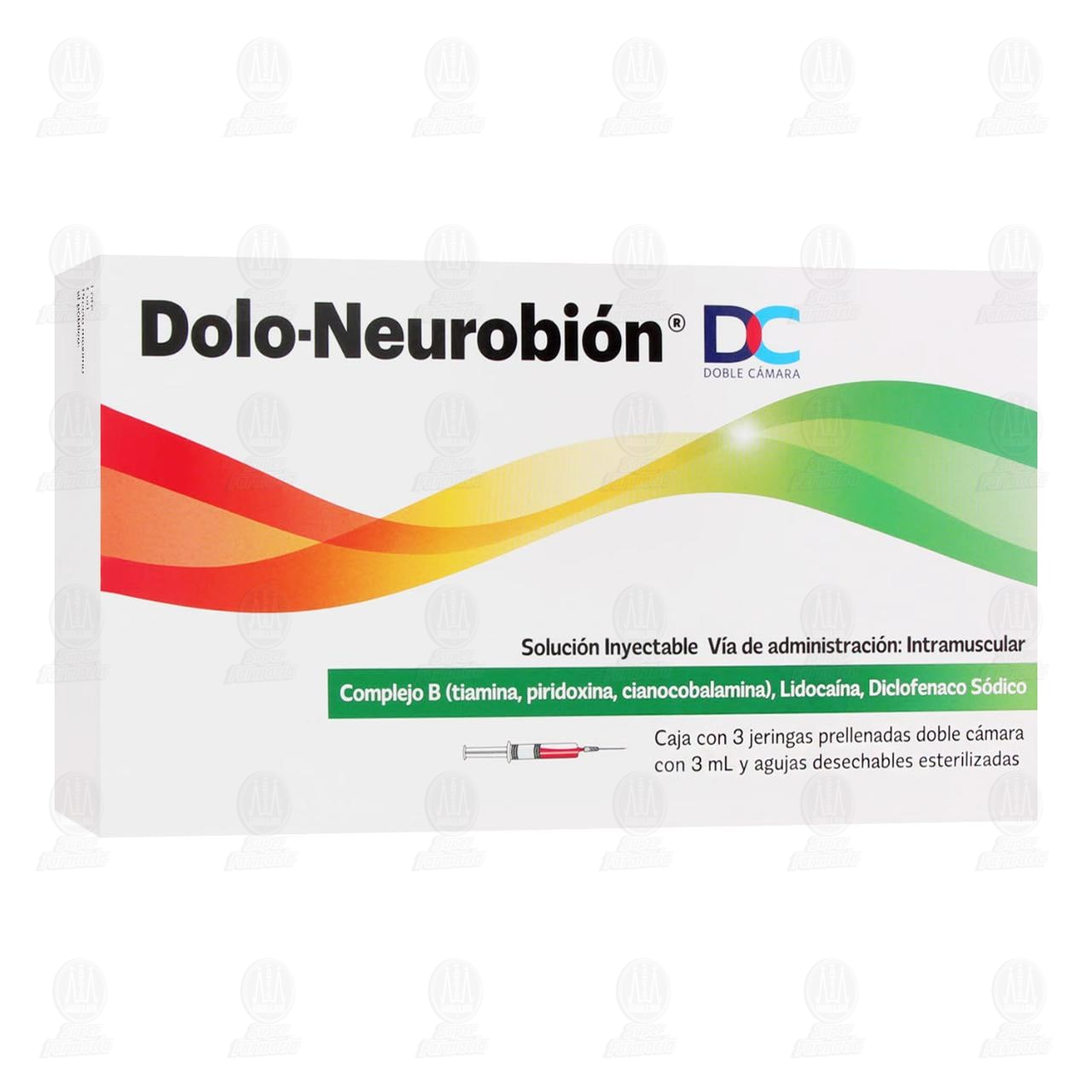 Dolo-Neurobión 3ml con 3 Jeringas Doble Cámara