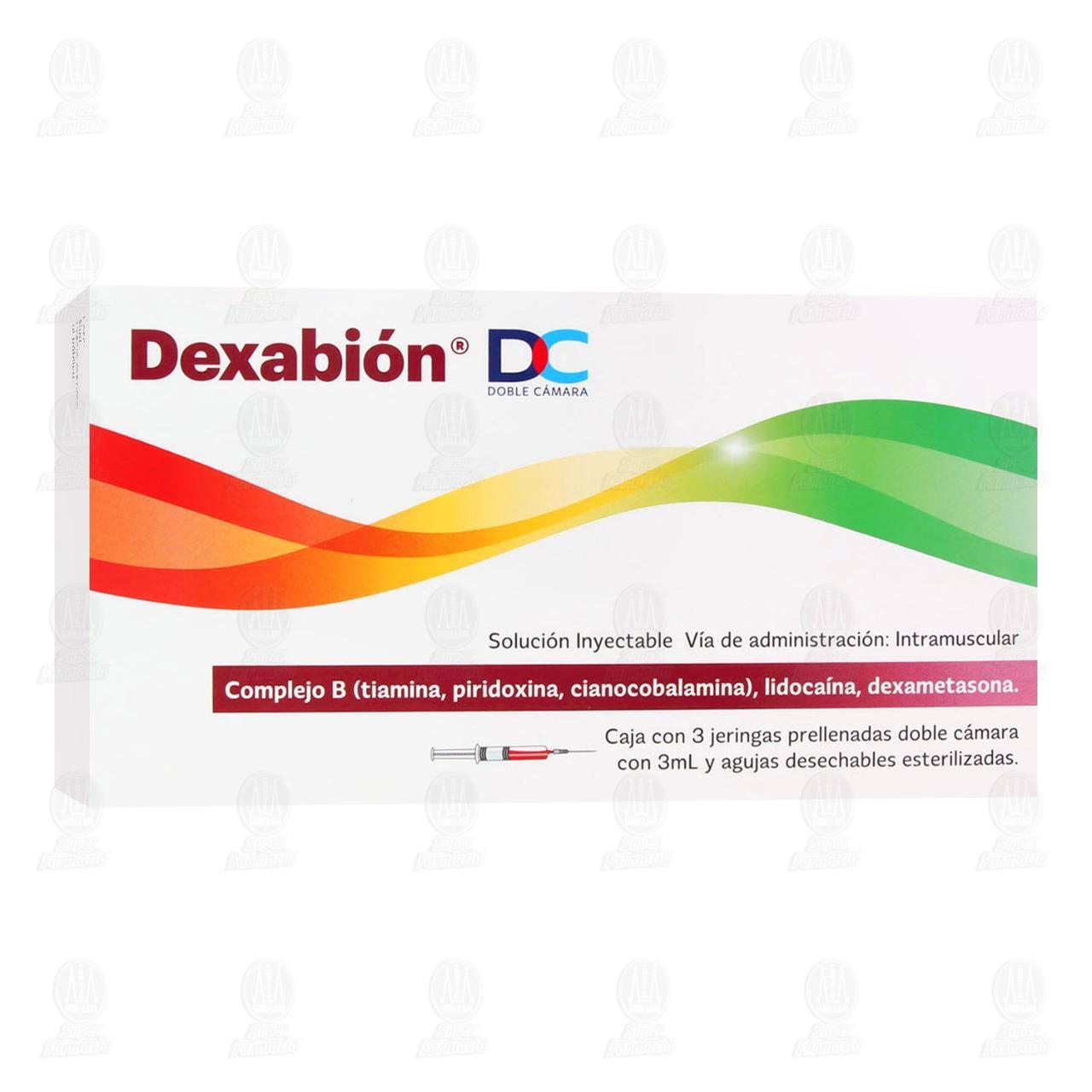 Comprar Dexabión 3ml con 3 Jeringas Doble Cámara en Farmacias Guadalajara